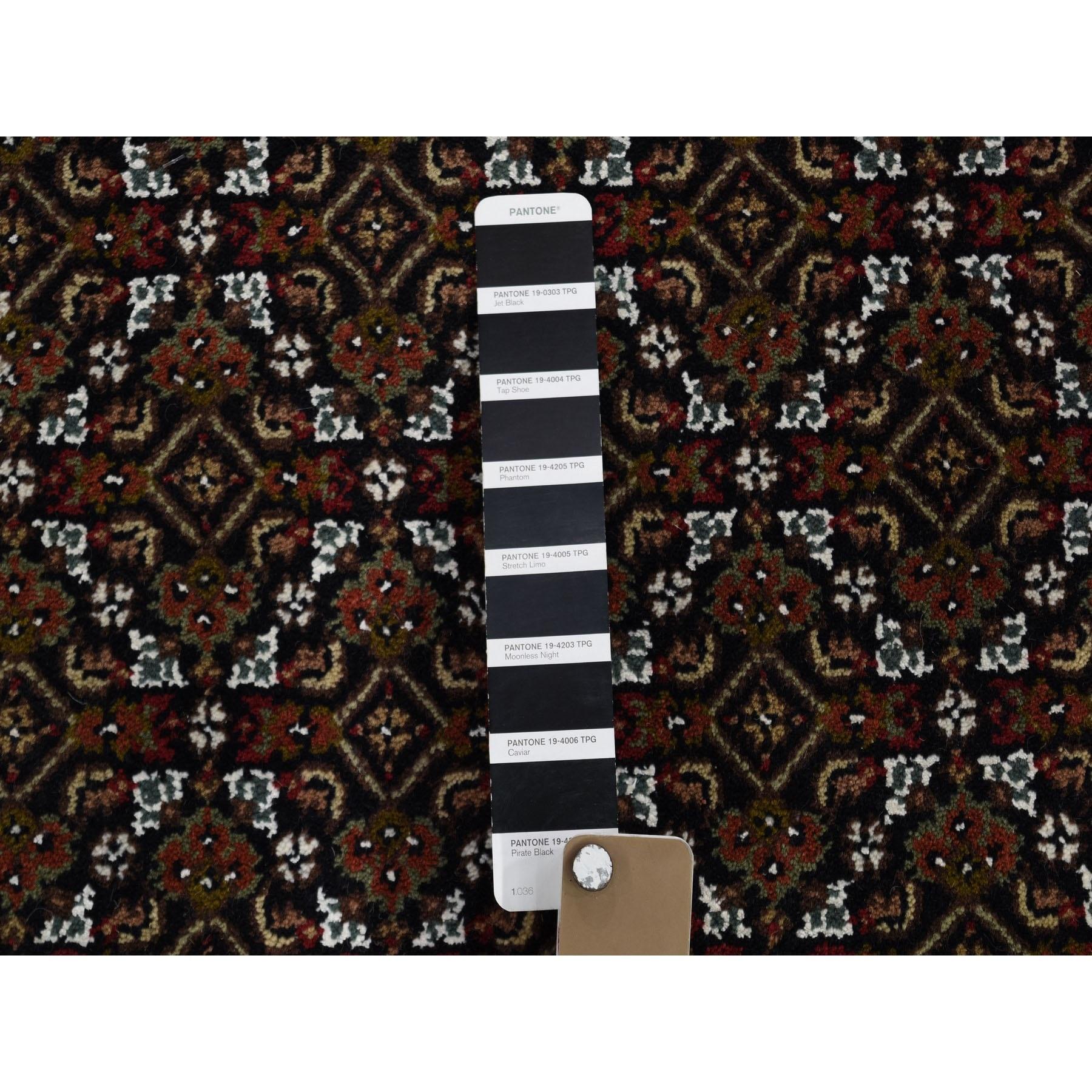 "9'10""x14' Black Tabriz Mahi Wool and Silk Hand Knotted Oriental Rug"