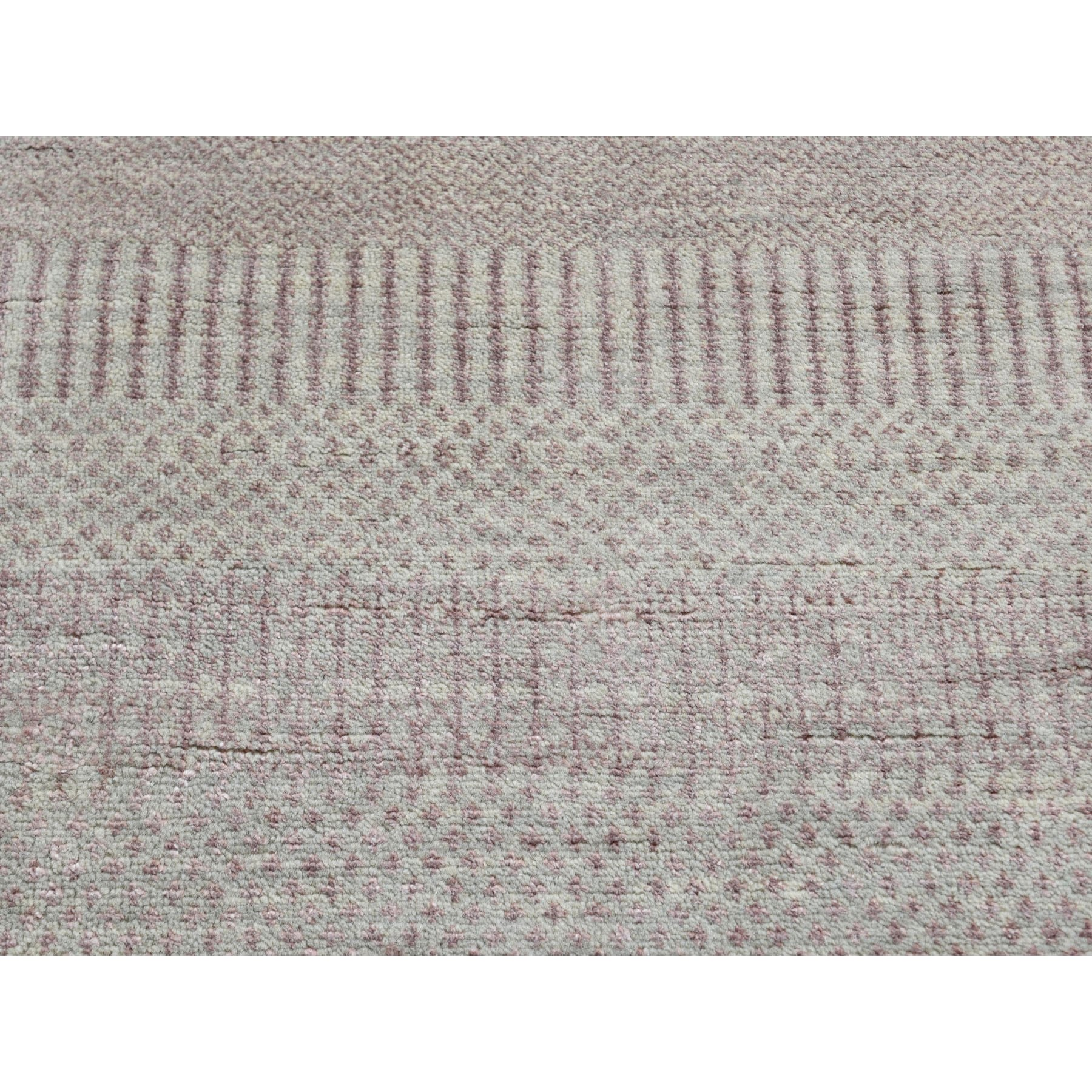5'x7' Hand Knotted Wool and Silk Grass Design Oriental Rug