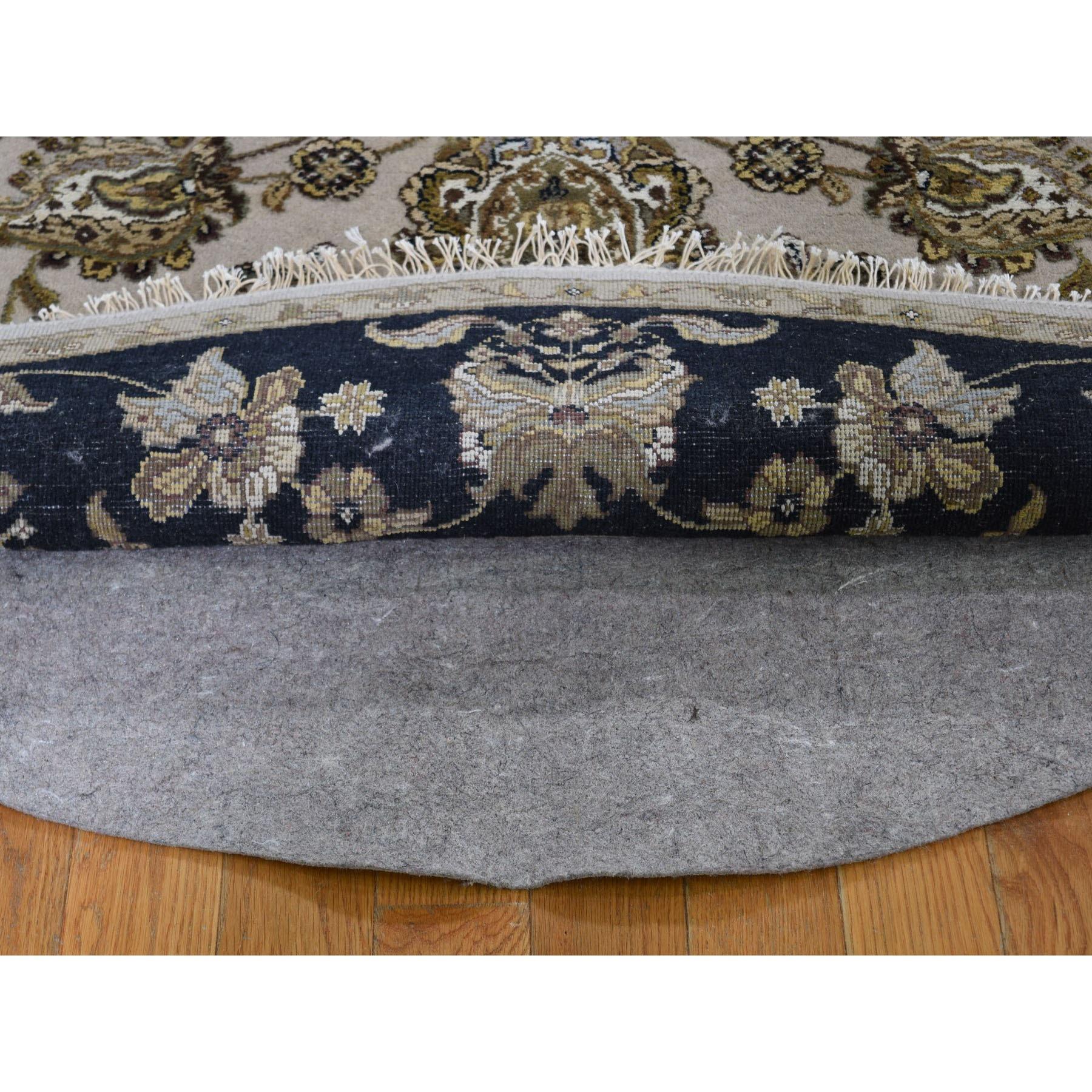6-2 x6-2  Rajasthan Half Wool And Half Silk Hand Knotted Round Oriental Rug