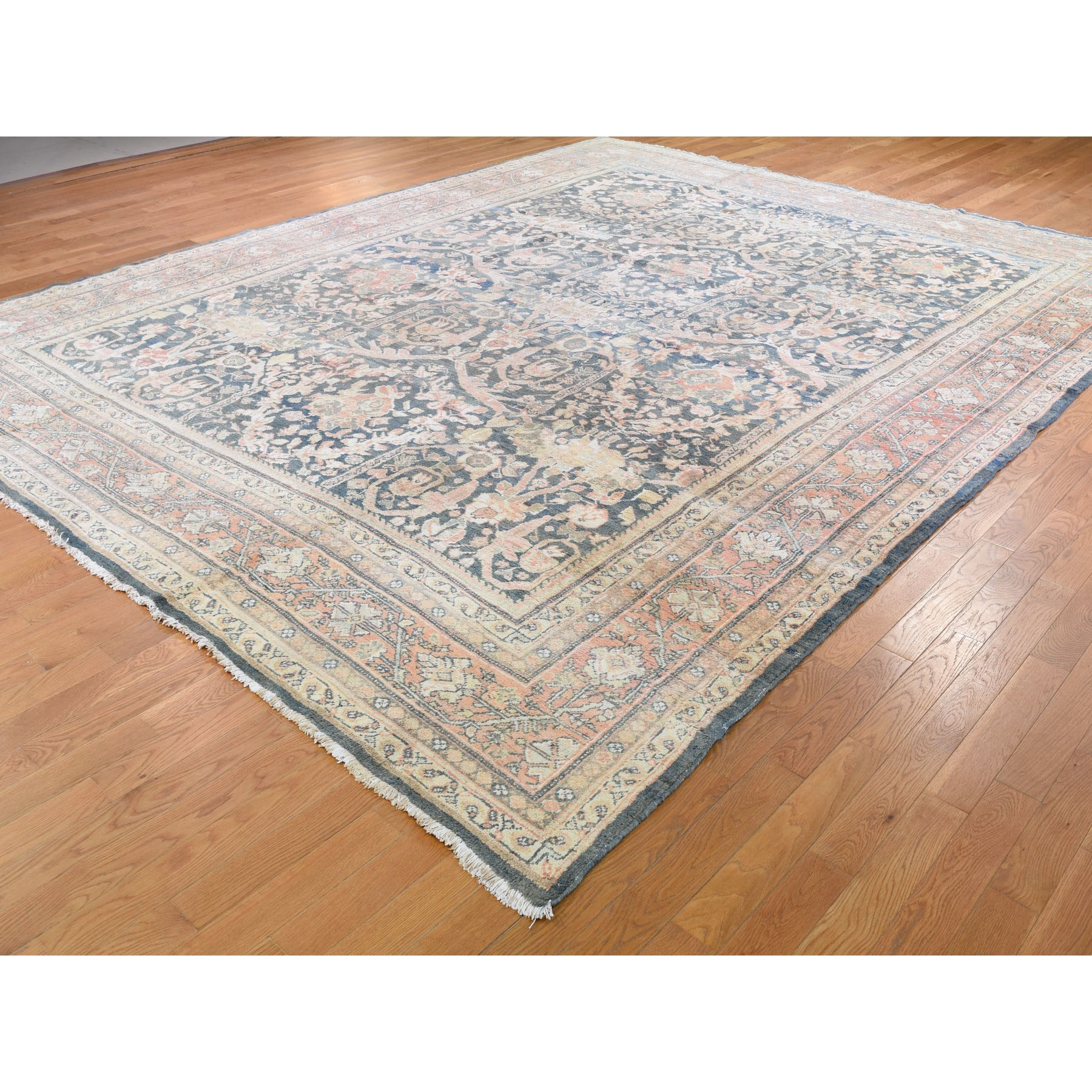 10-7 x13-6  Navy Antique Persian mahal Good Cond Pure Wool Hand Knotted Oriental Rug