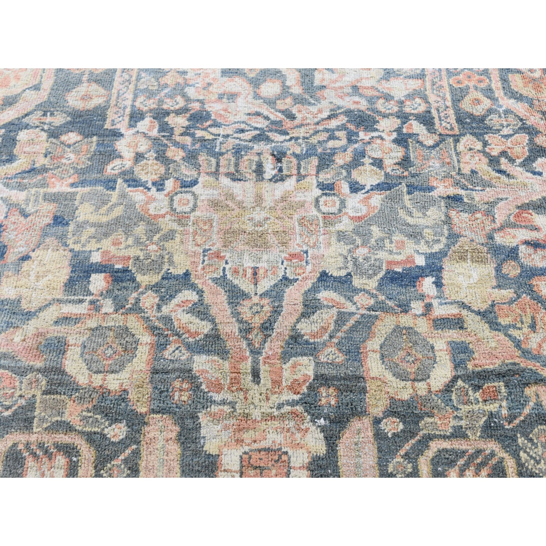 "10'7""x13'6"" Navy Antique Persian mahal Good Cond Pure Wool Hand Knotted Oriental Rug"