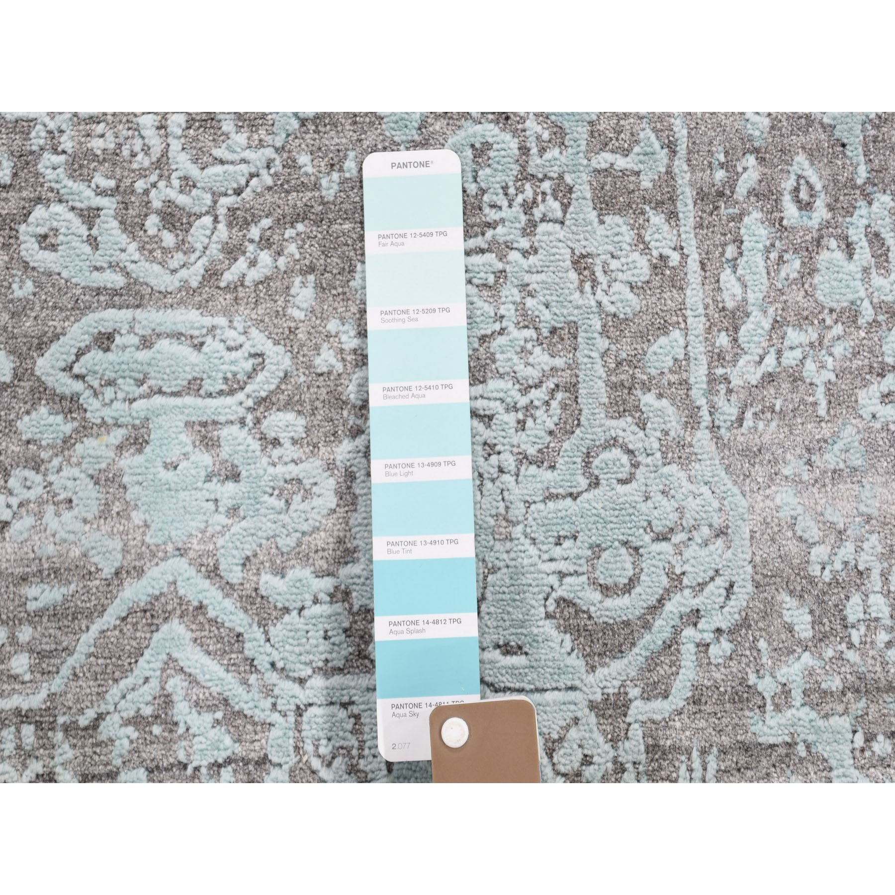 3-x4-10  Broken Persian Design Wool and Silk Hand Knotted Oriental Rug