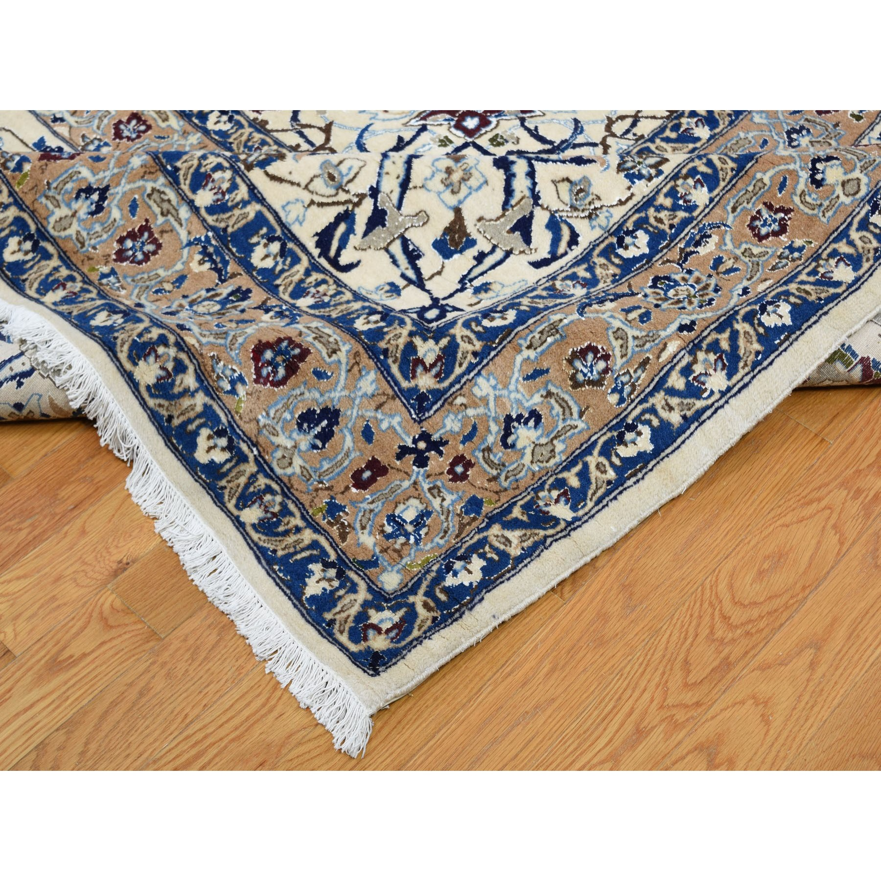 16-2 x26-6- Mansion Size Wool And Silk 250 KPSI Persian Nain Hand Knotted Oriental Rug