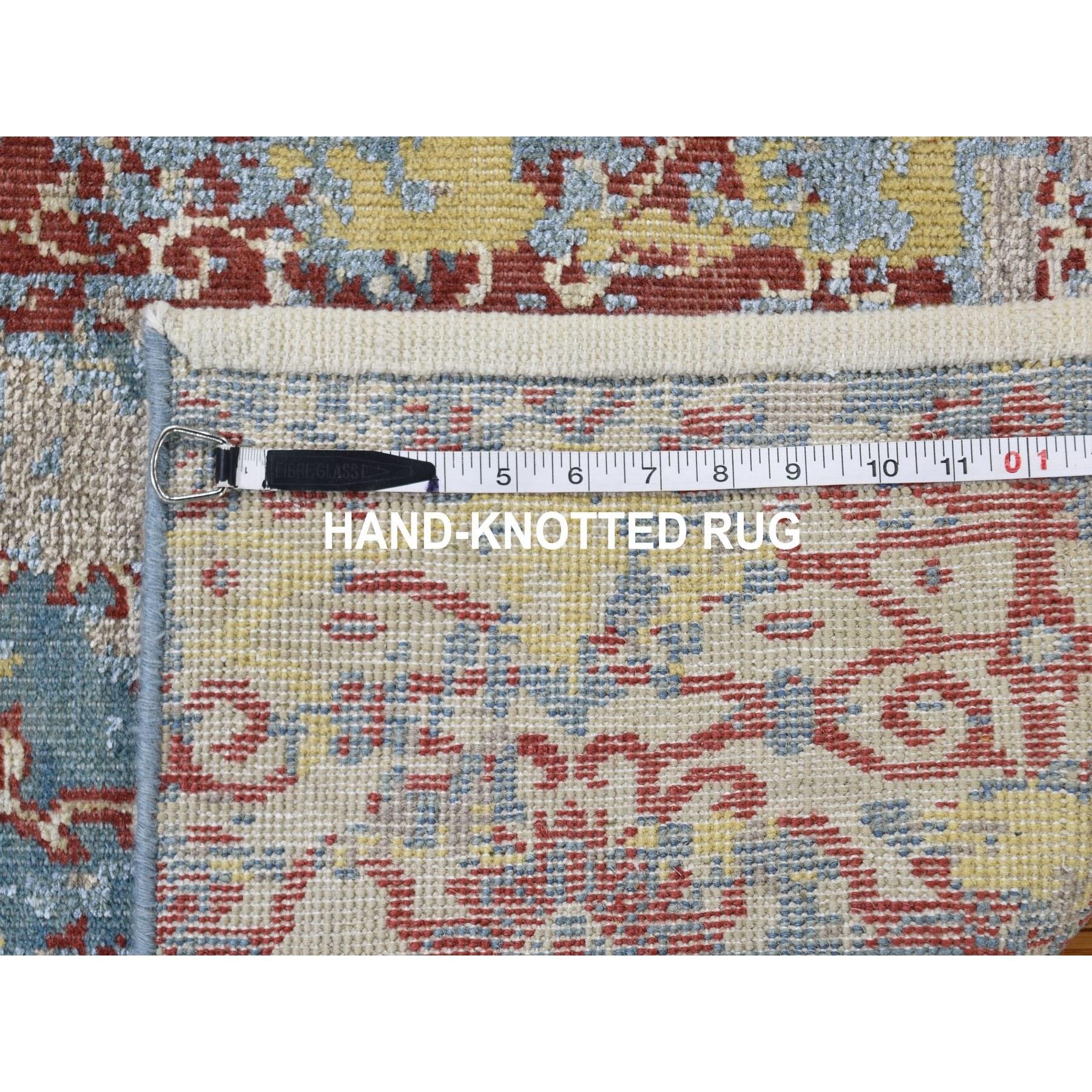 2-x3- Silk With Textured Wool Broken Design Hand Knotted Oriental Rug