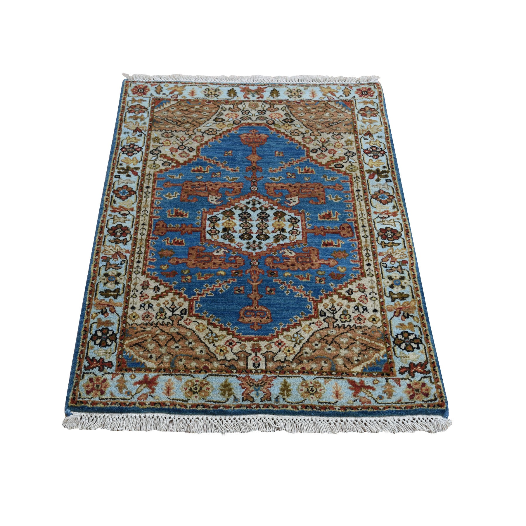 2'X3' Hand Knotted Antiqued Bakshaish Natural Dyes Oriental Rug moad8aa6