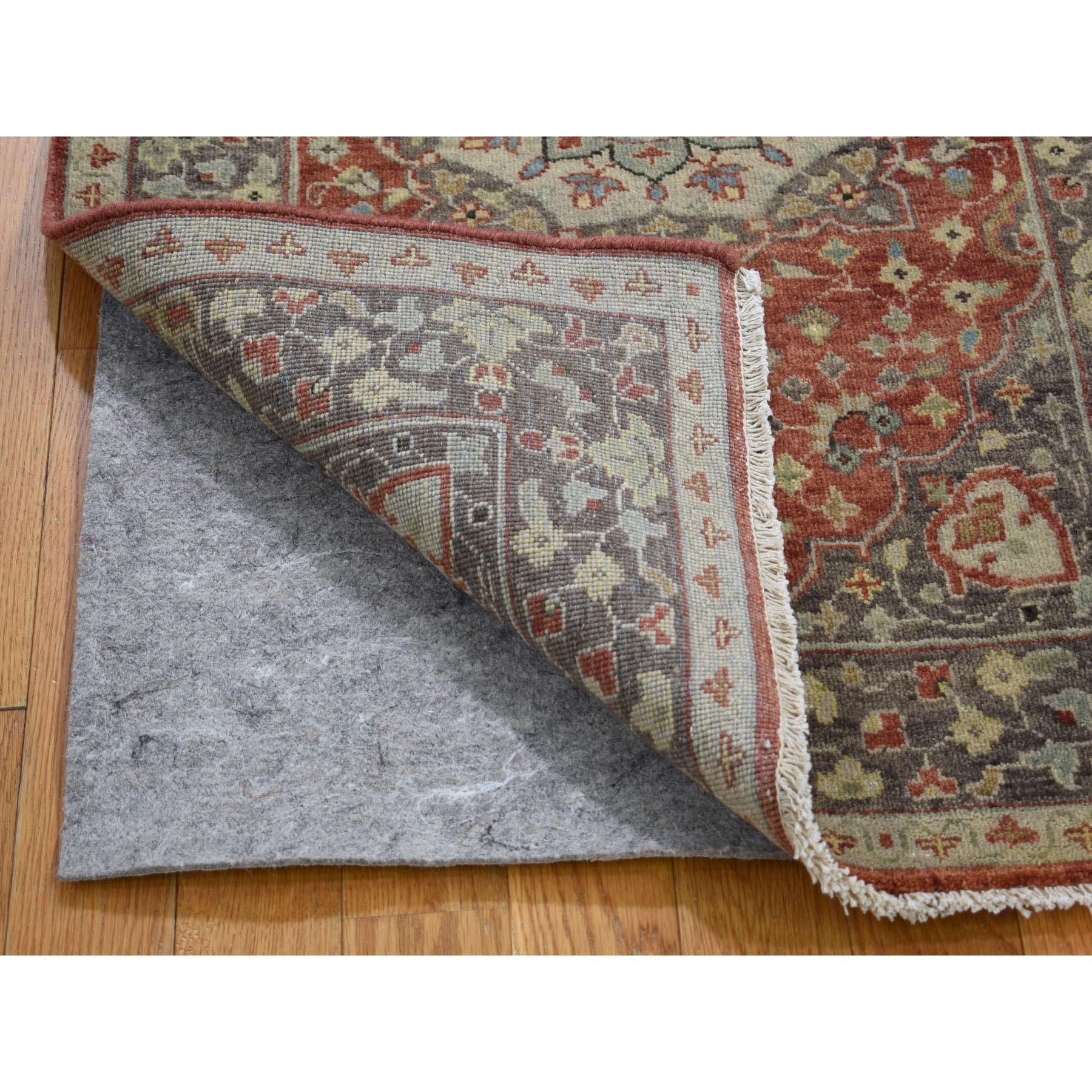 "2'6""x15'10""  Hand Knotted XL Runner Antiqued Tabriz Haji Jalili Re-Creation Oriental Rug"