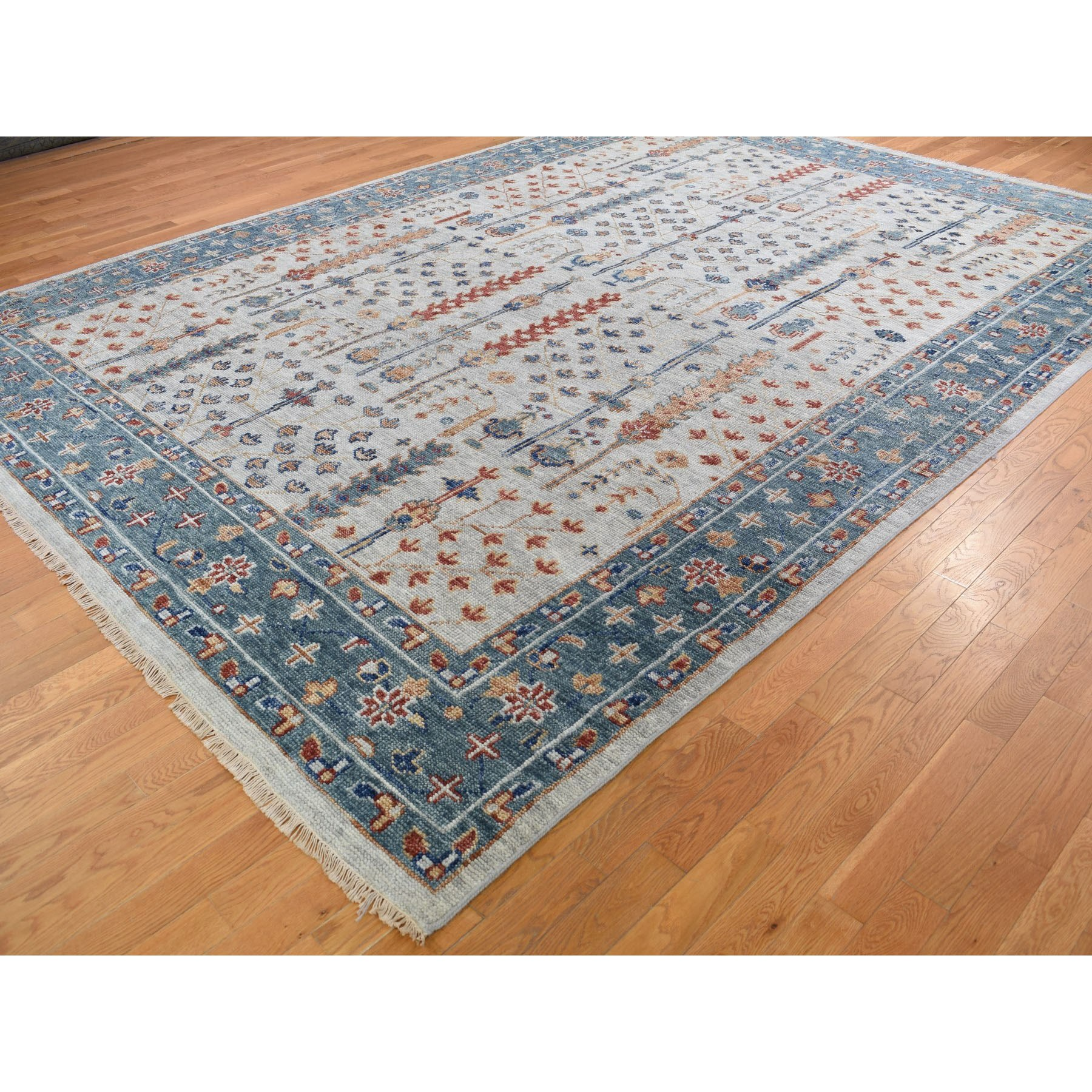 10-x13-10  Supple Collection With Tree Design Soft wool Hand Knotted Oriental Rug