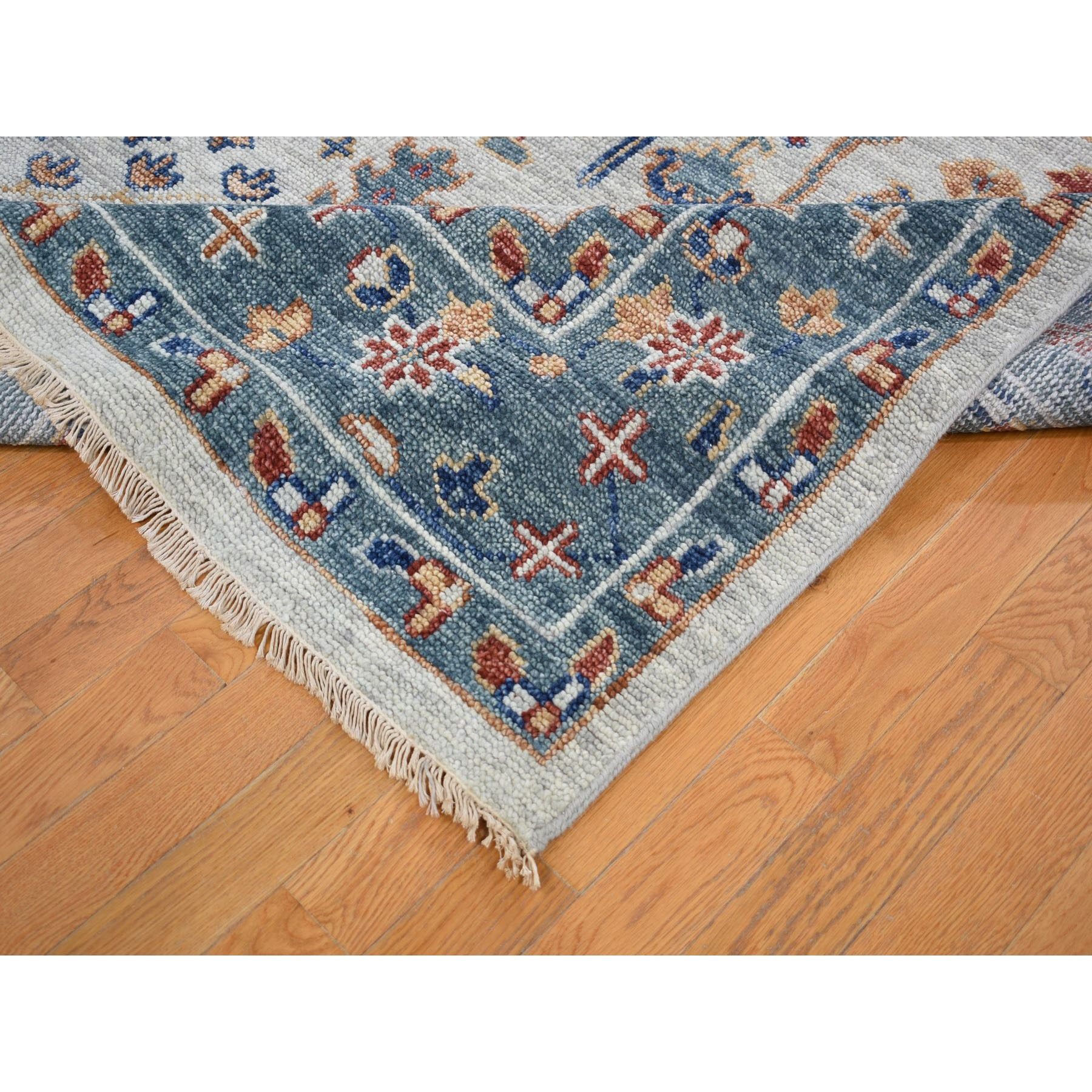 """10'x13'10"""" Supple Collection With Tree Design Soft wool Hand Knotted Oriental Rug"""