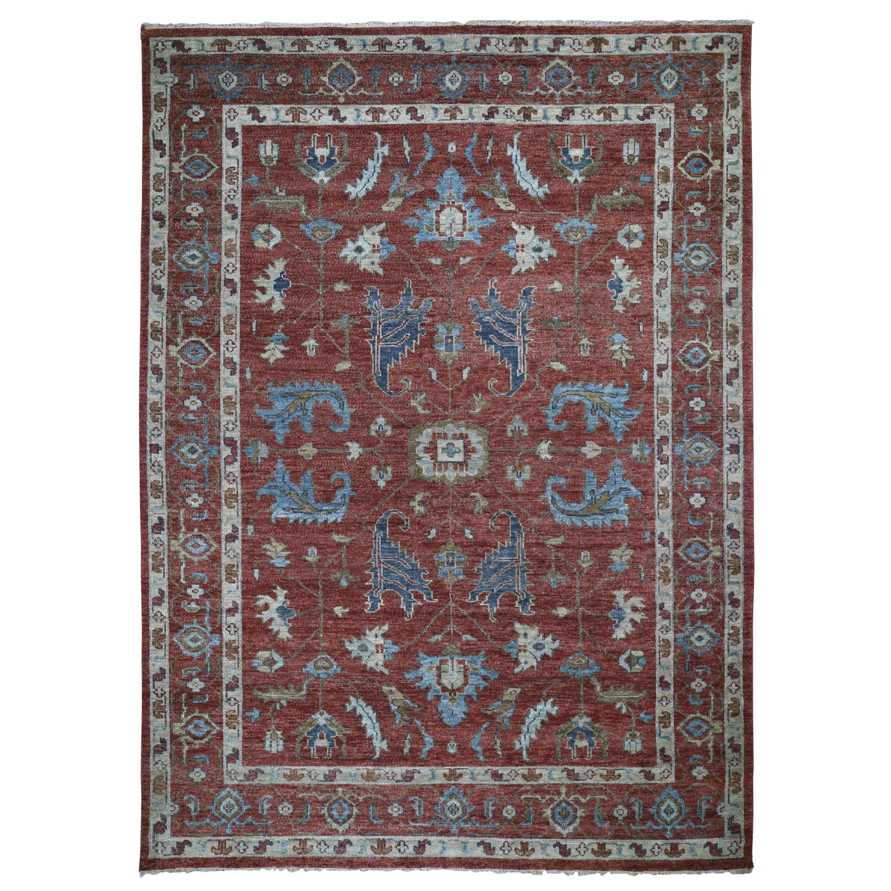 "9'10""X14'2""  Red Supple Collection Serapi Design Soft Wool Hand Knotted Oriental Rug moad8bbc"