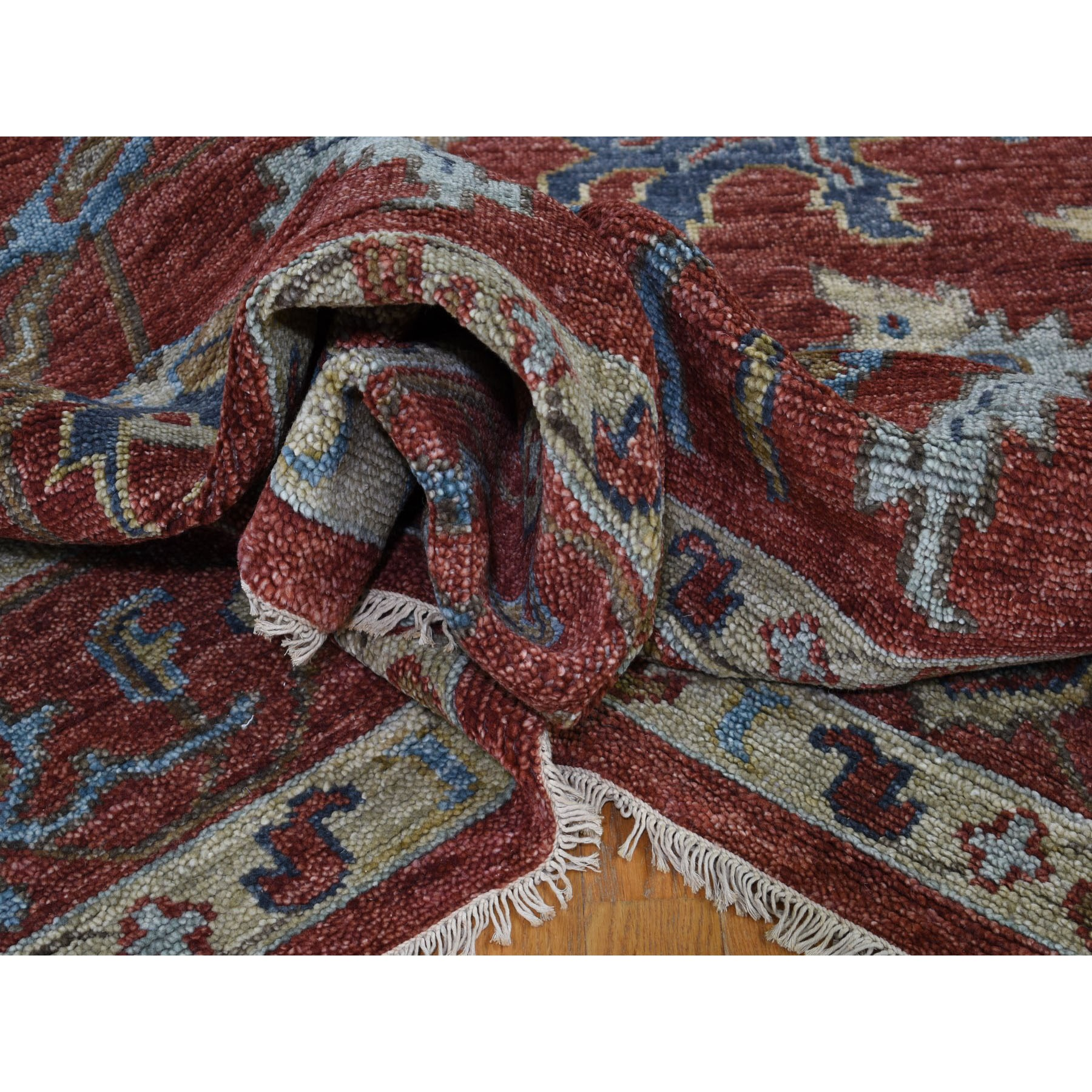 """9'10""""x14'2""""  Red Supple Collection Serapi Design Soft wool Hand Knotted Oriental Rug"""