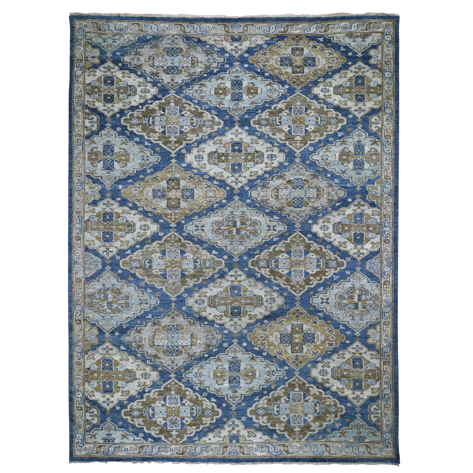 "10'3""X14' Blue Supple Collection Anatolia Design Hand Knotted Oriental Rug moad8bb6"