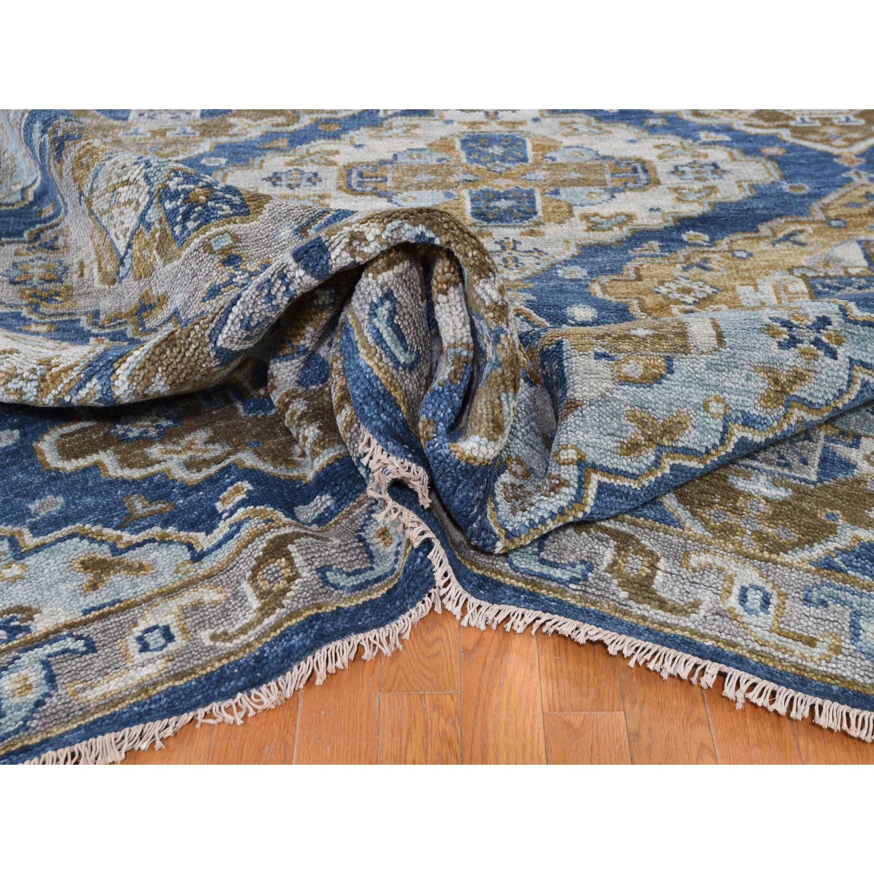"""10'3""""x14' Blue Supple Collection Anatolia Design Hand Knotted Oriental Rug"""