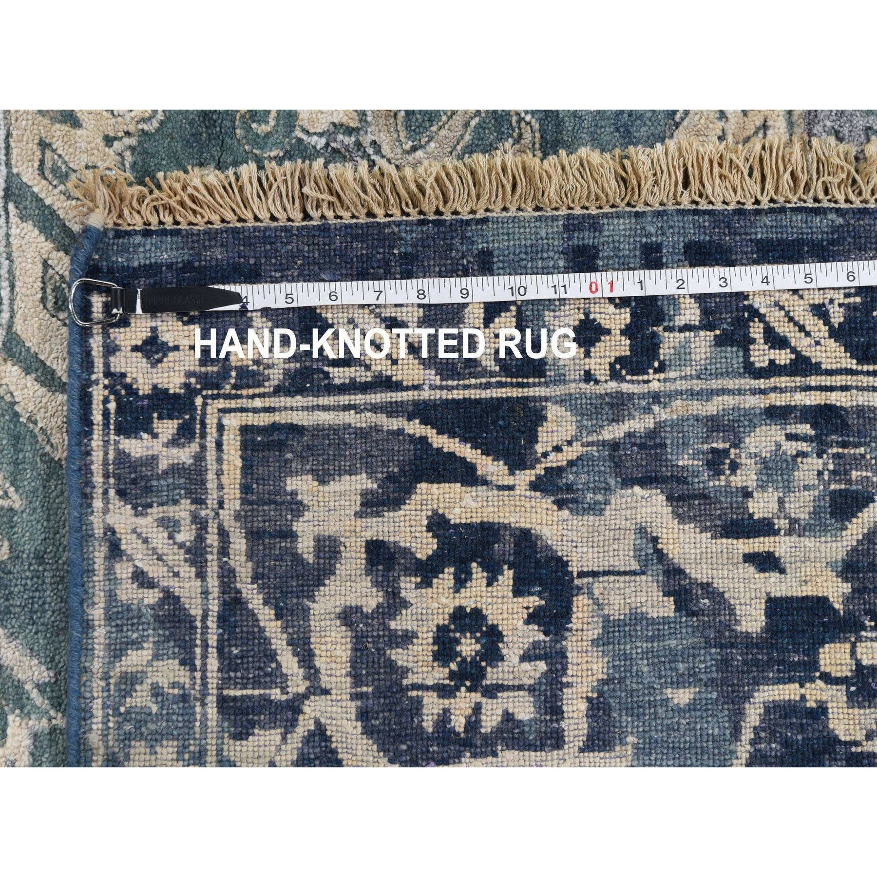 """8'10""""x12' Broken Persian Heriz All Over Design Wool And Silk Hand Knotted Oriental Rug"""