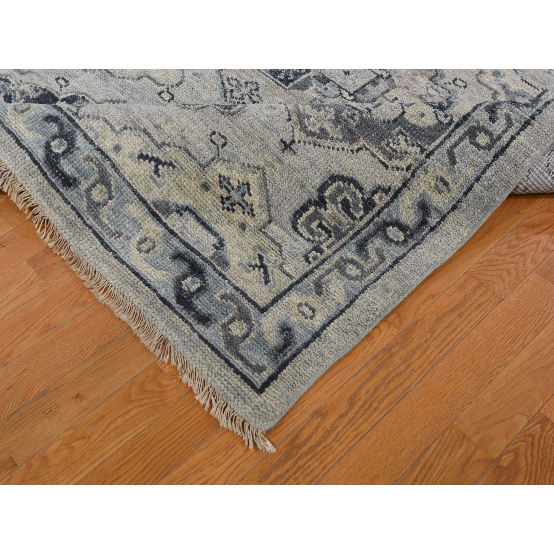 """10'2""""x14'1"""" Gray Supple Collection Oushak Design Hand Knotted Oriental Rug"""