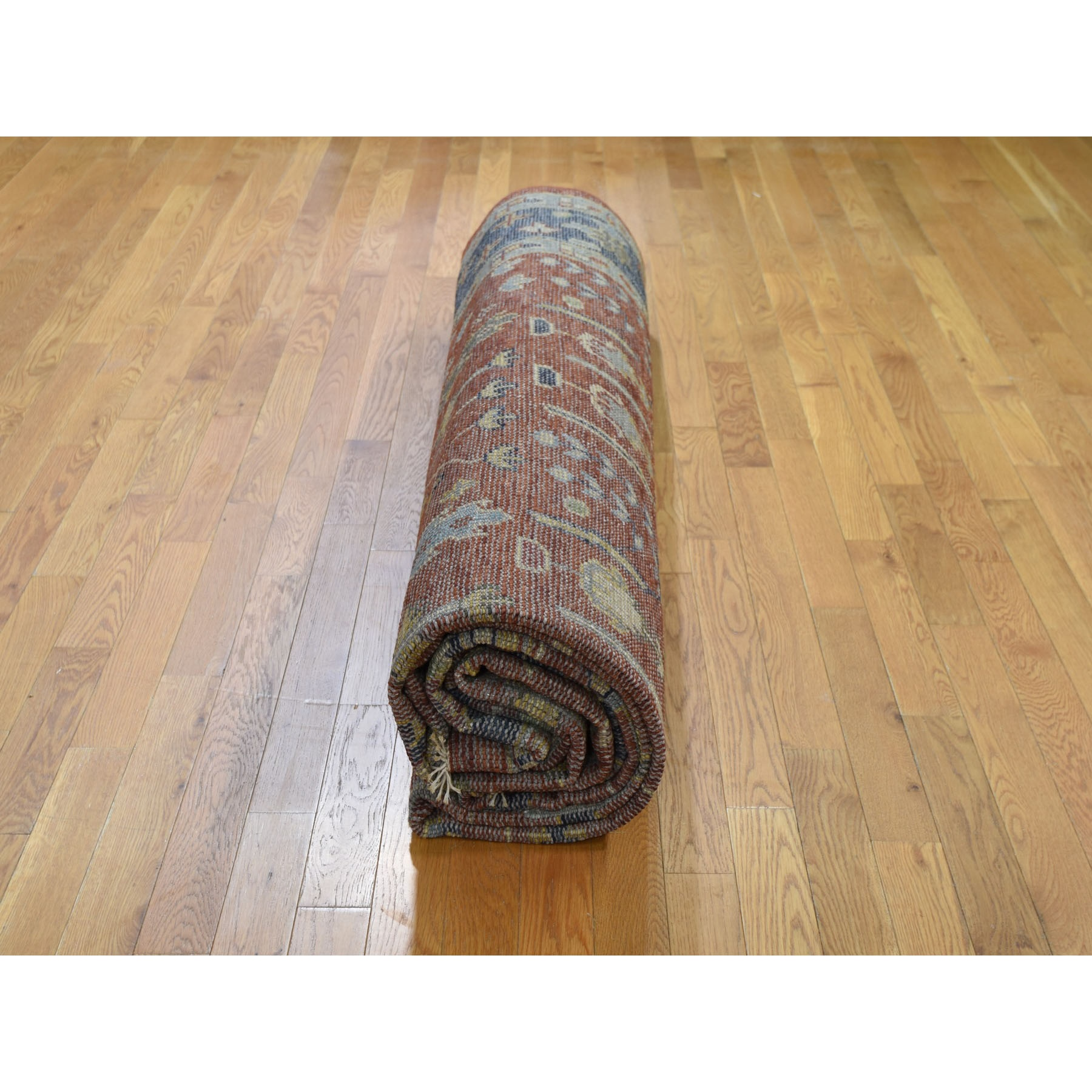 """10'3""""x14'1"""" Navy Blue Supple Collection With Tree Design Soft wool Hand Knotted Oriental Rug"""