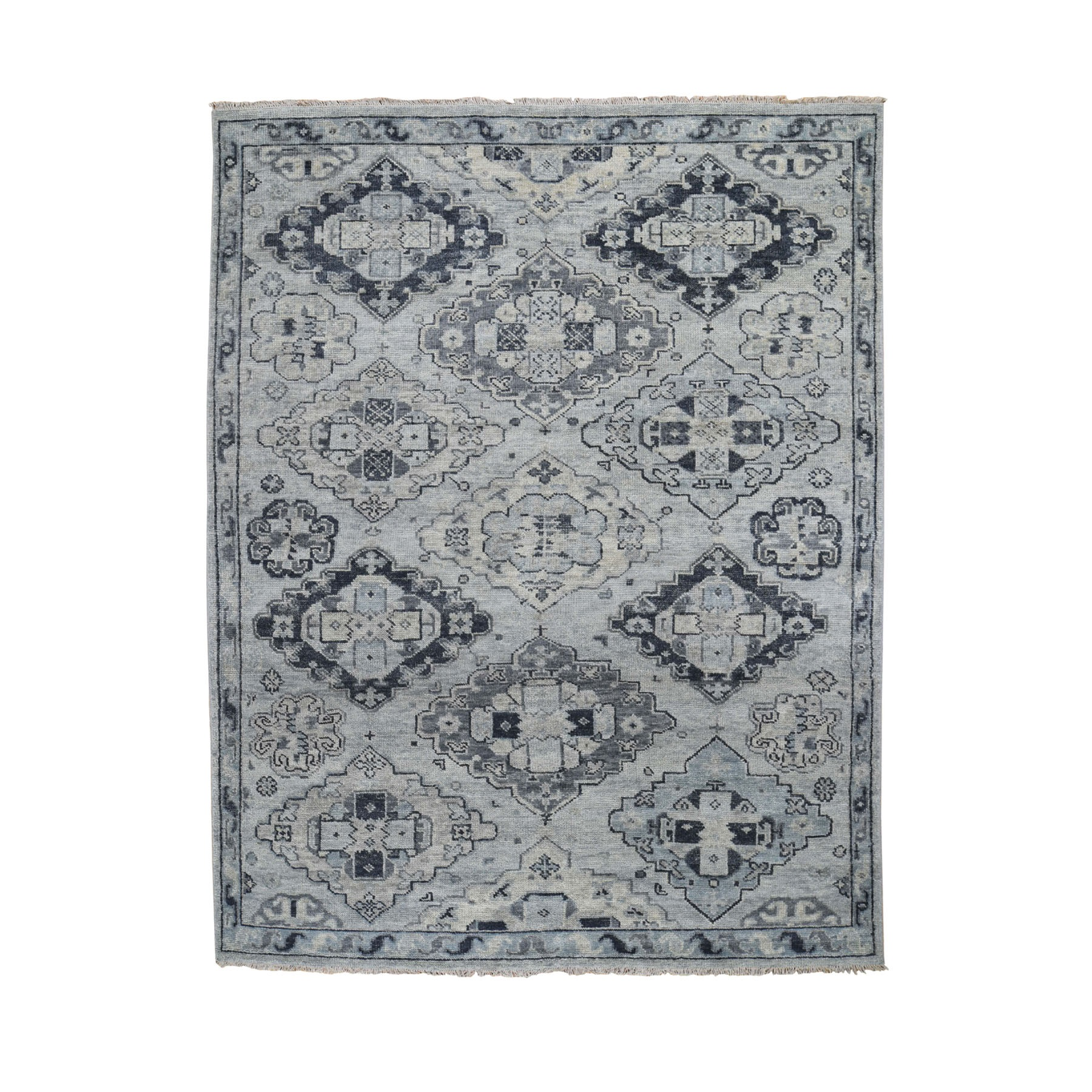 "7'10""X10' Gray Supple Collection Oushak Design Hand Knotted Oriental Rug moad8beb"