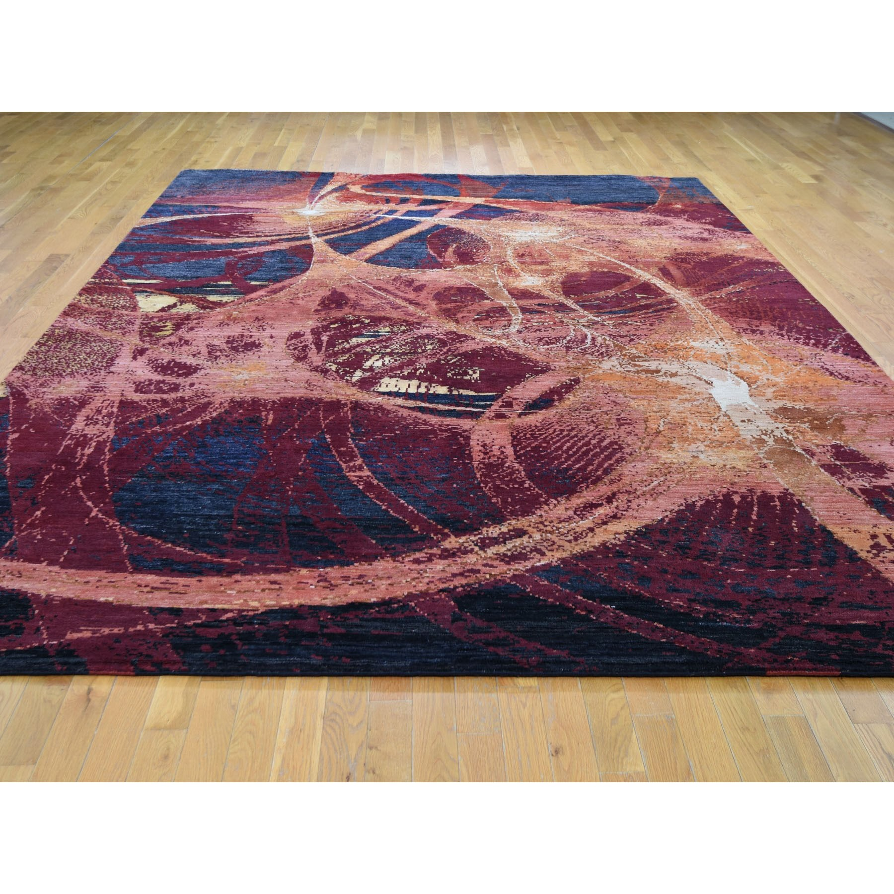 """9'2""""x12' The Flamboyant Galaxy Wool And Silk Hand Knotted Oriental Rug"""
