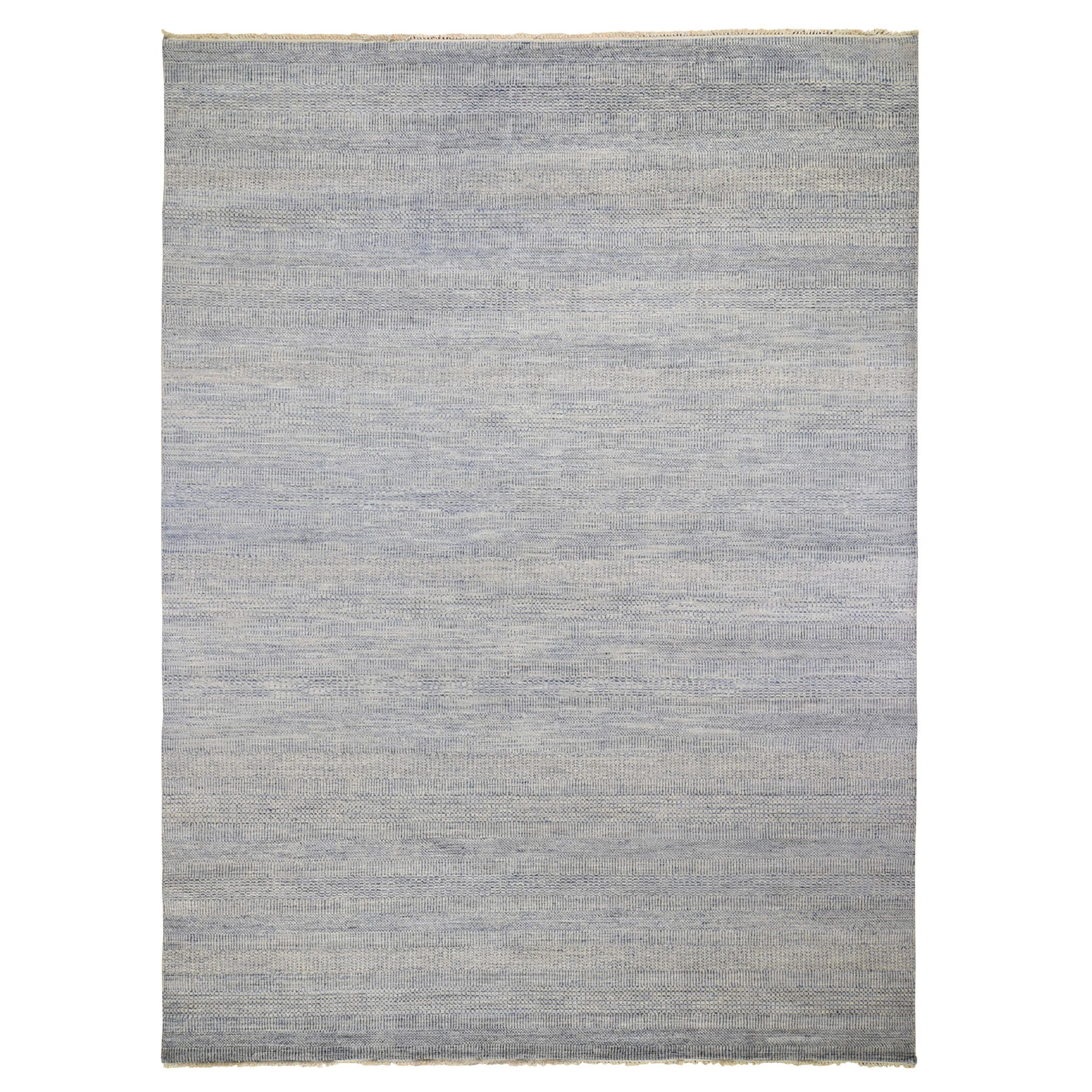 """9'2""""X12' Blue Grass Design Thick And Plush Wool And Silk Hand Knotted Oriental Rug moad8b88"""