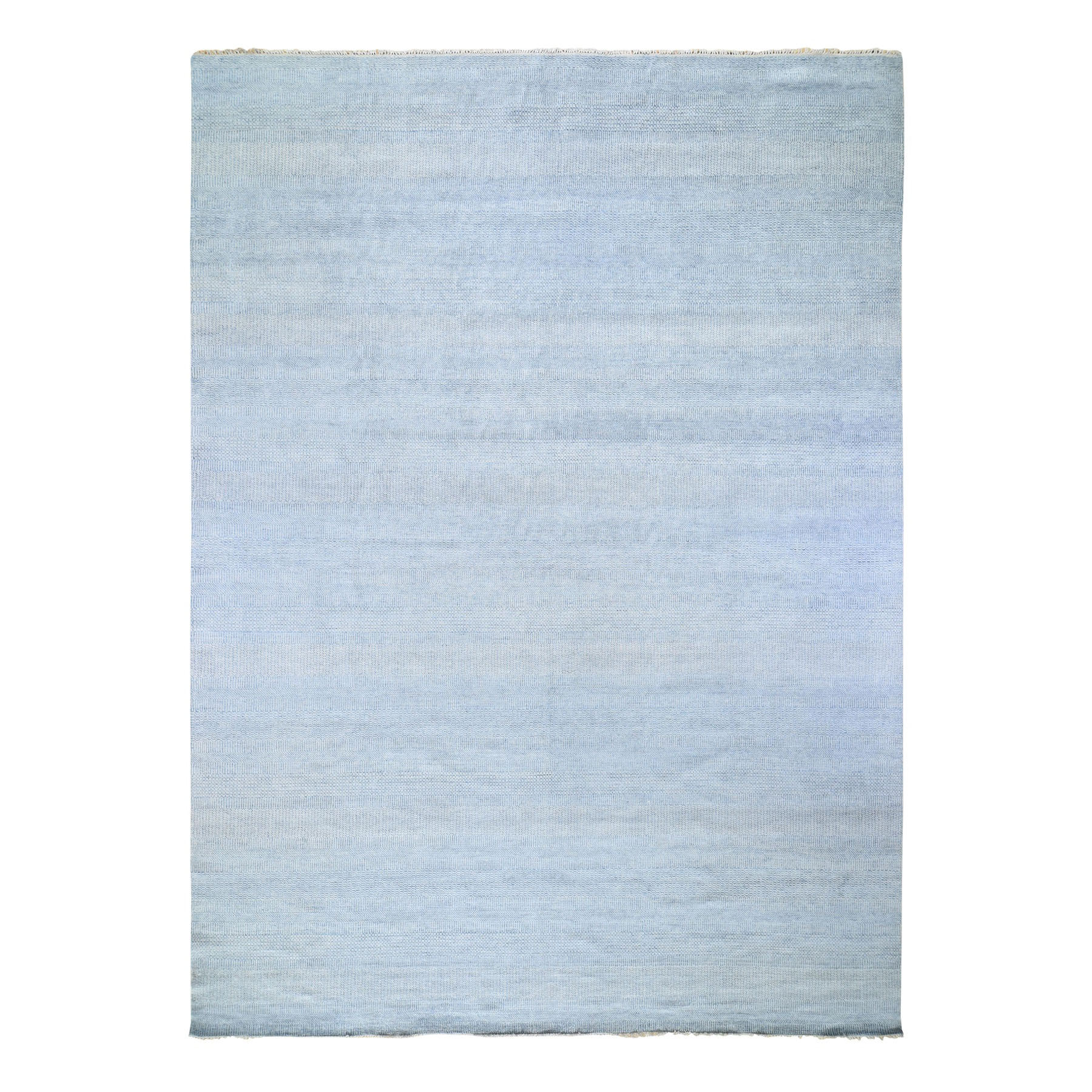 """12'x14'6"""" Oversized Blue Grass Design Thick And Plush Hand Knotted Oriental Rug 48297"""