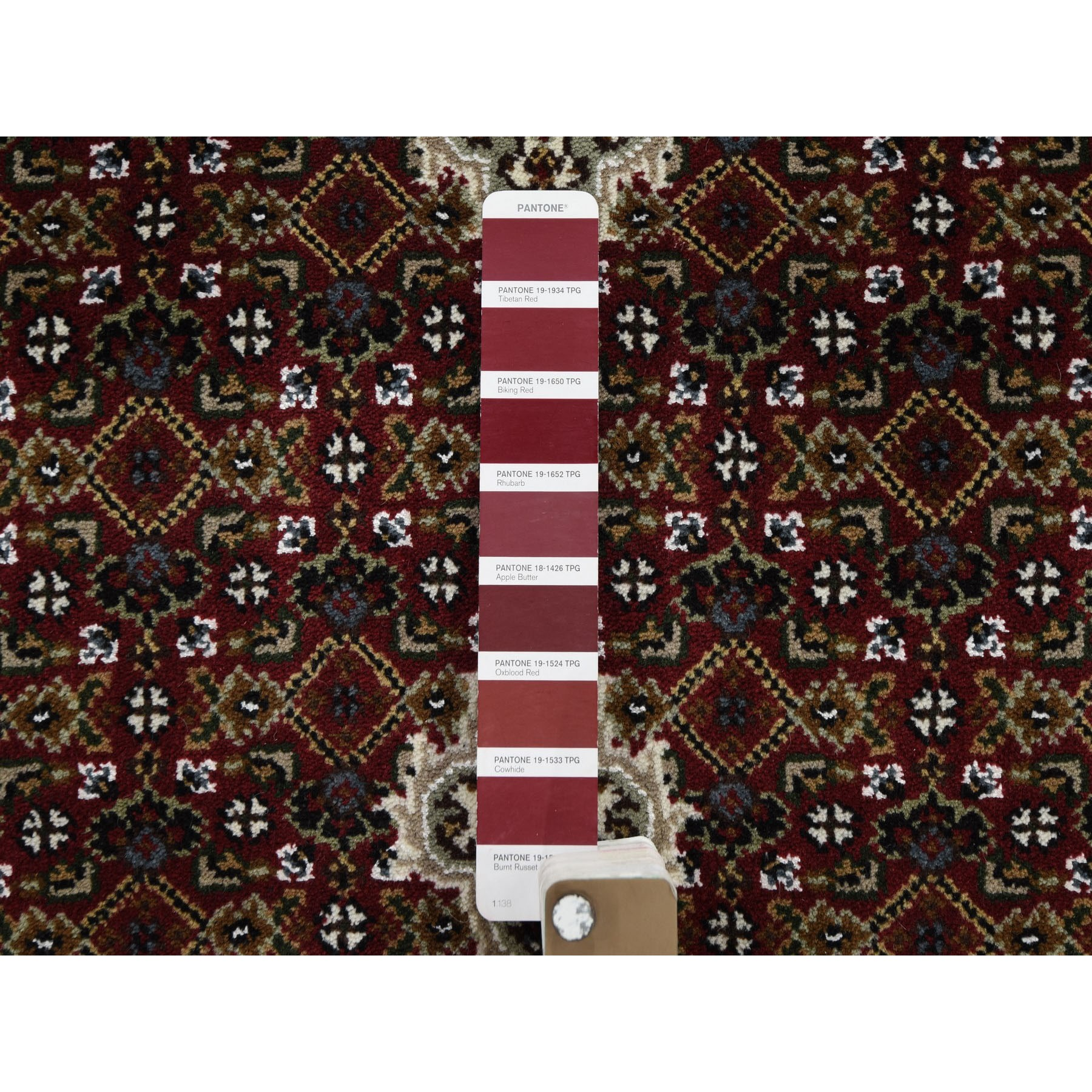 "2'7""x20' Red Tabriz Mahi Wool and Silk XL Runner Hand Knotted Oriental Rug"