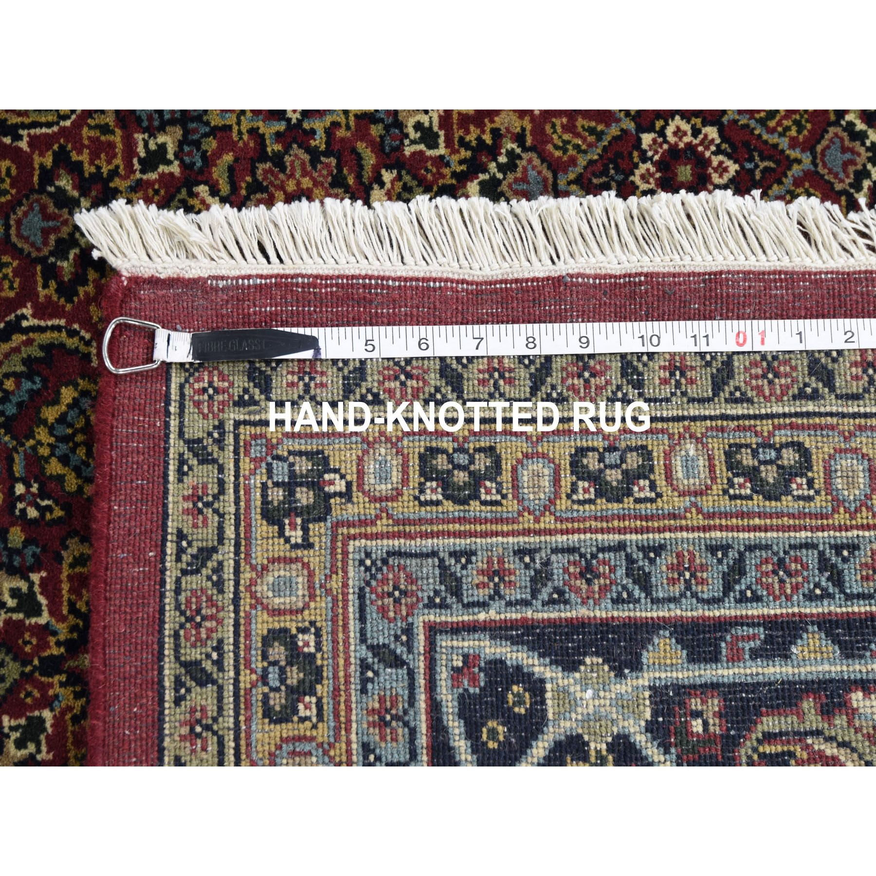 9-7 x13-5  Herati Fish Design 175 KPSI Hand Knotted Wool And Silk Oriental Rug