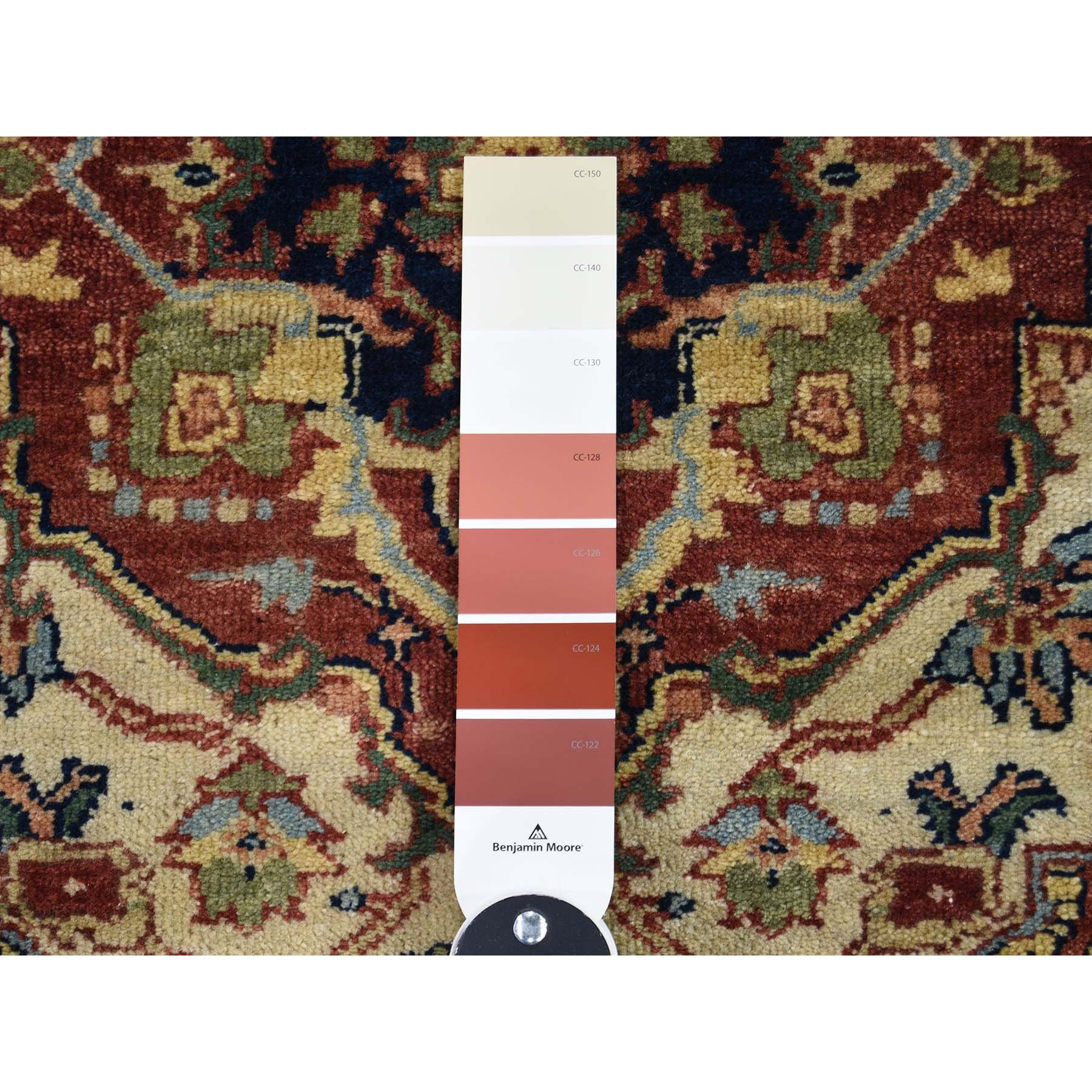 2-7 x9-10  Antiqued Heriz Re-creation Runner Hand Knotted Oriental Rug