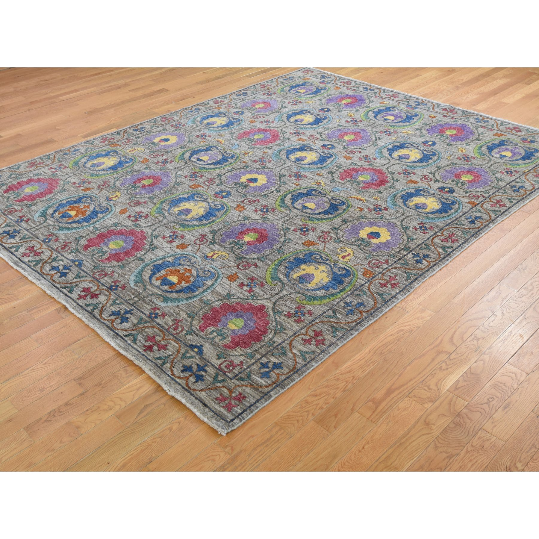 8-1 x10- Colorful Hand Knotted Peshawar Arts and Crafts Design Oriental Rug