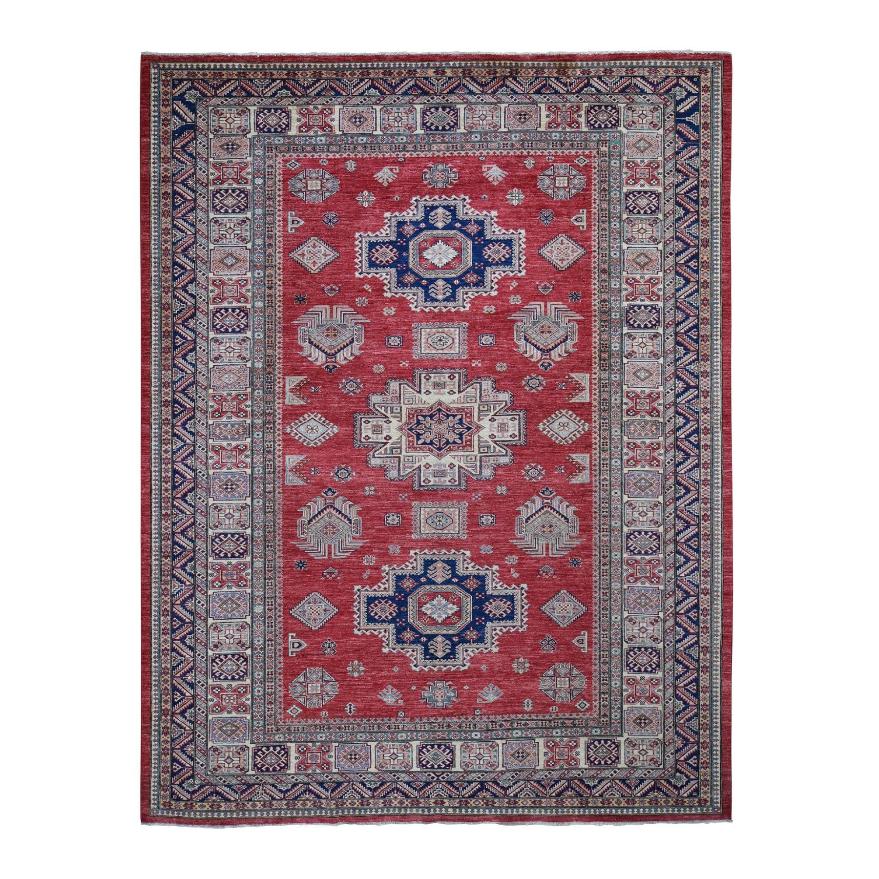 "8'9""X11'6"" Hand Knotted Super Kazak 100 Percent Wool Oriental Rug moad8d69"
