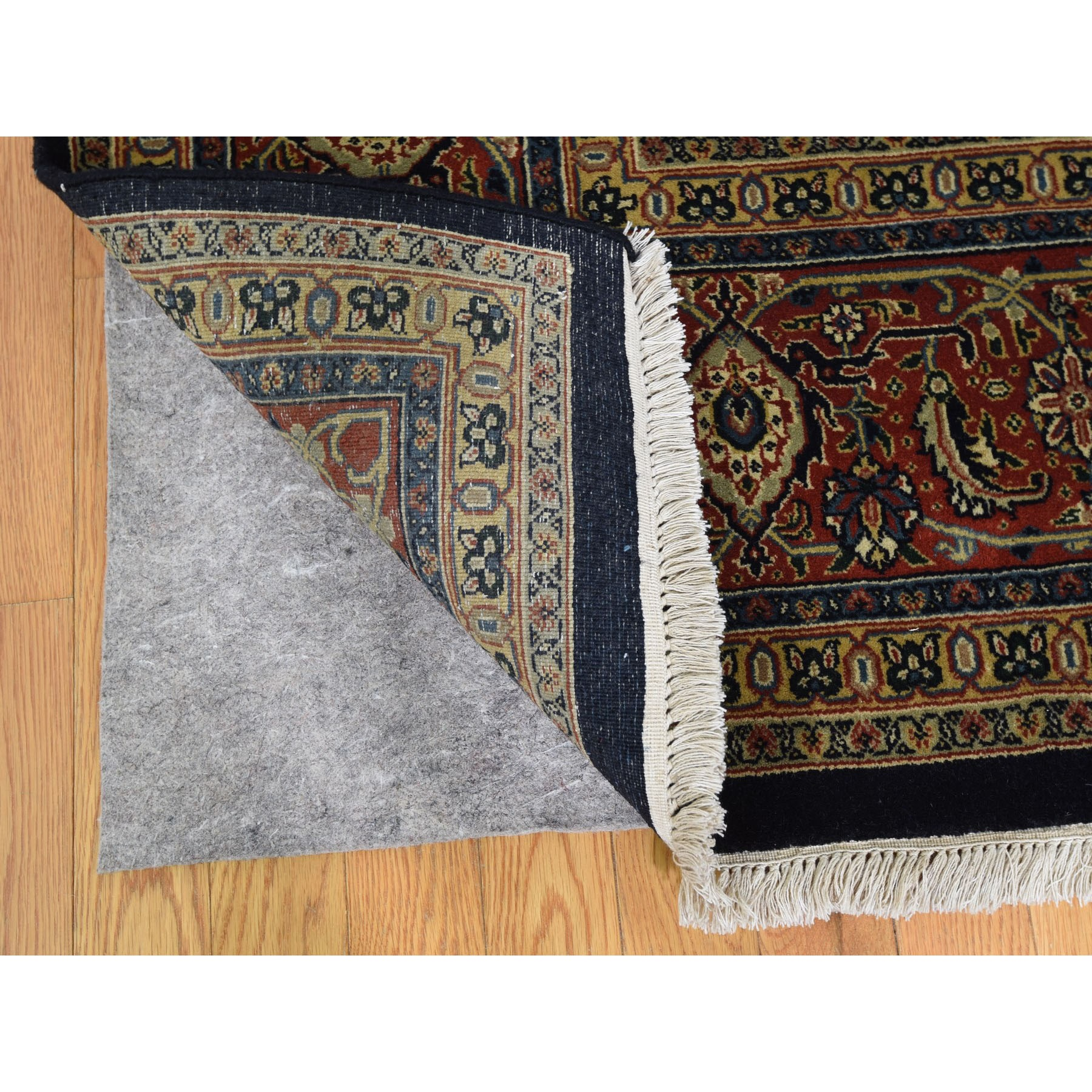 9-x12-3  Herati Fish Design 175 KPSI Hand Knotted Wool And Silk Oriental Rug