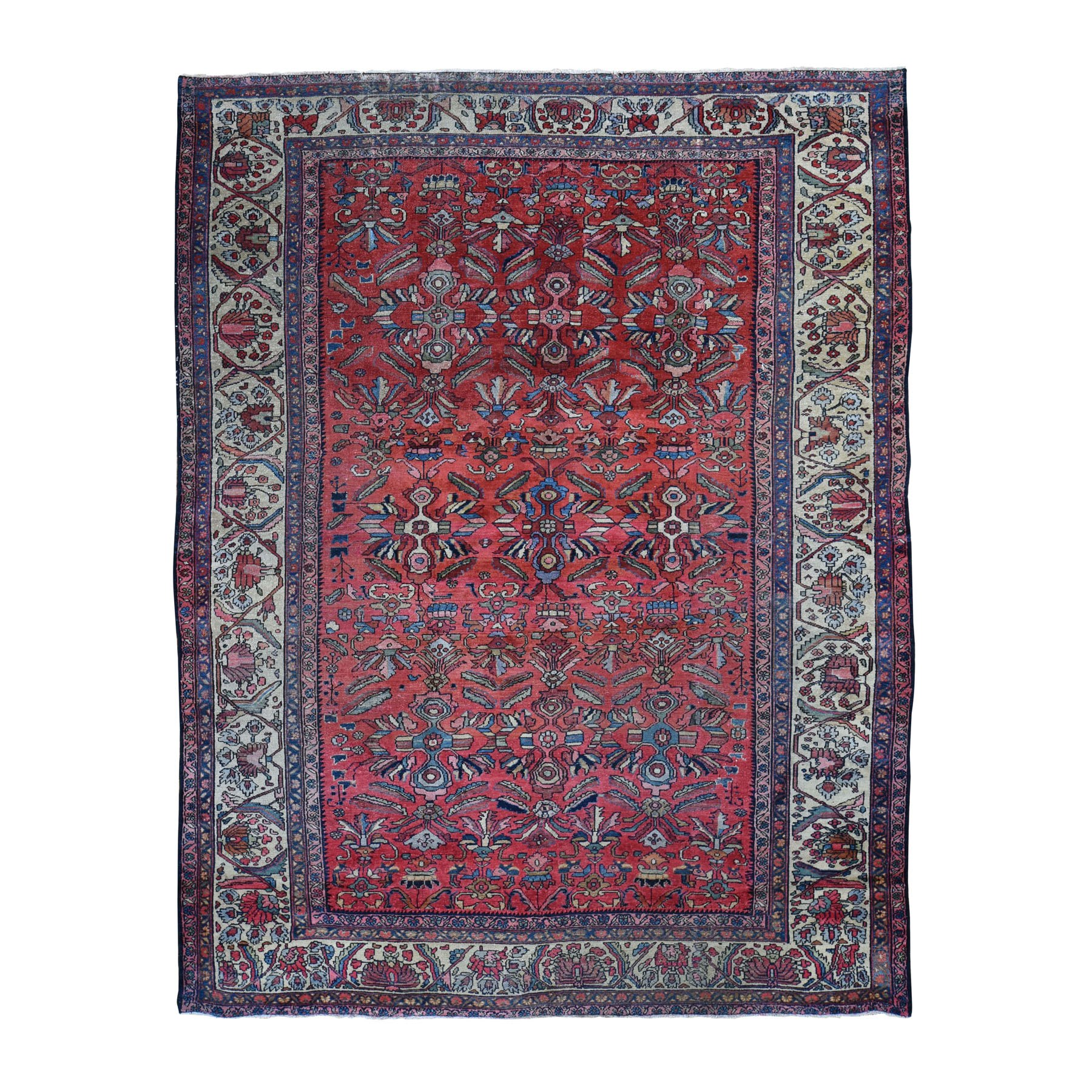 "7'10""X10'9"" Antique Persian Lilahan Even Wear Good Condition Hand Knotted Oriental Rug moad8d7d"