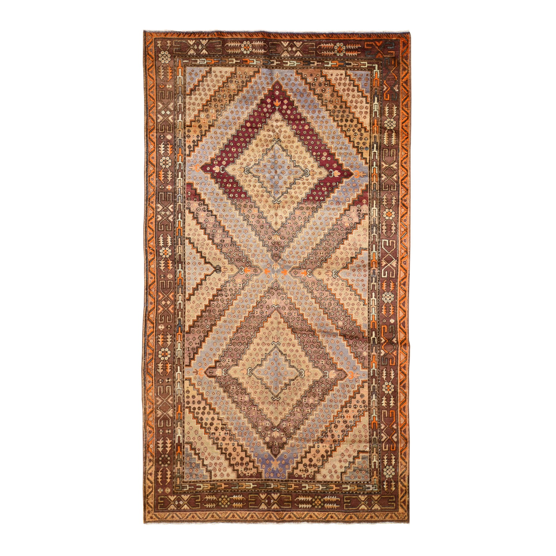 "5'5""X10'8"" Gallery Size Antique Khotan Full Pile Hand Knotted Oriental Rug moad8d9d"