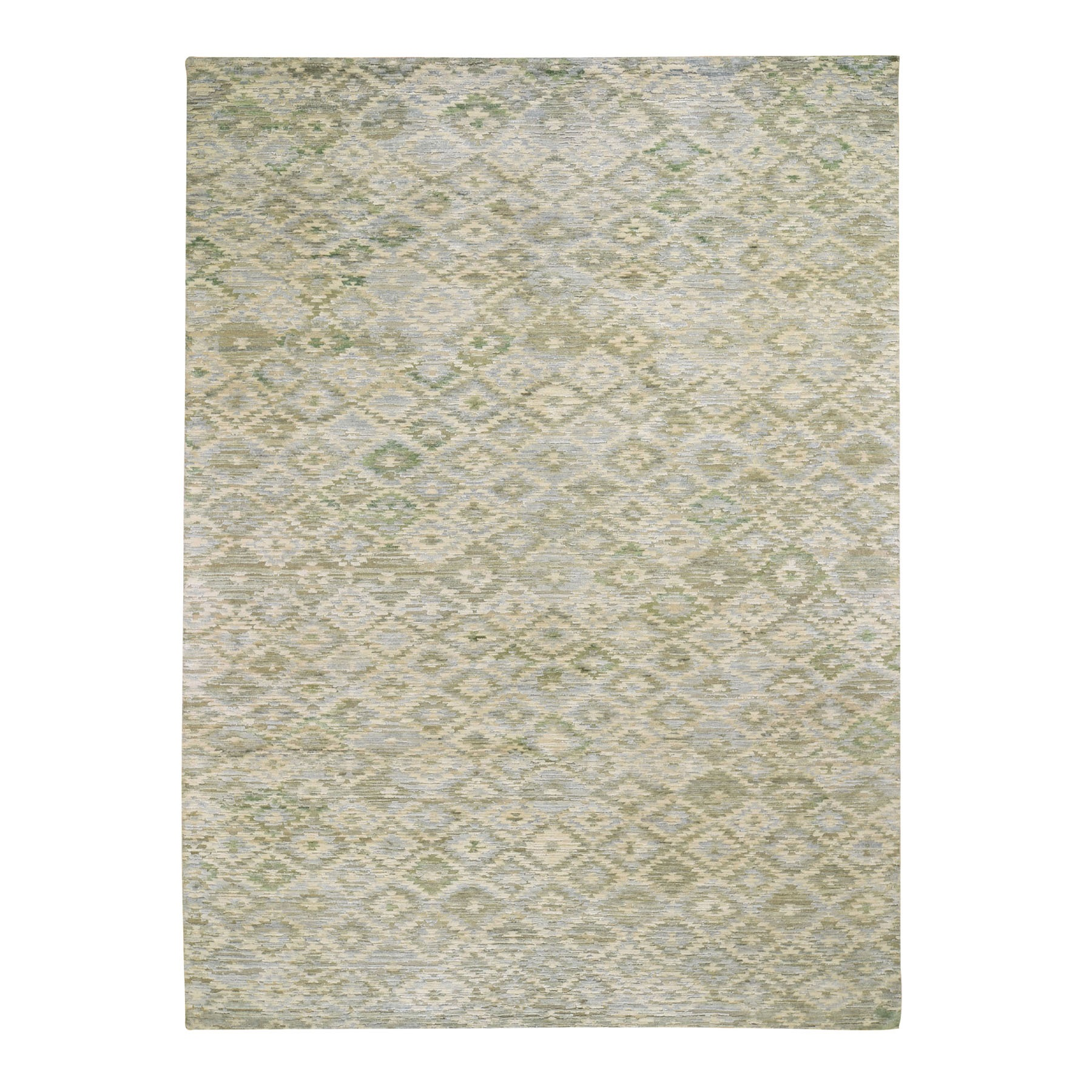 "8'10""X12'1"" The Pastel Collection, Silk With Textured Wool Hand Knotted Oriental Rug moad8ec8"