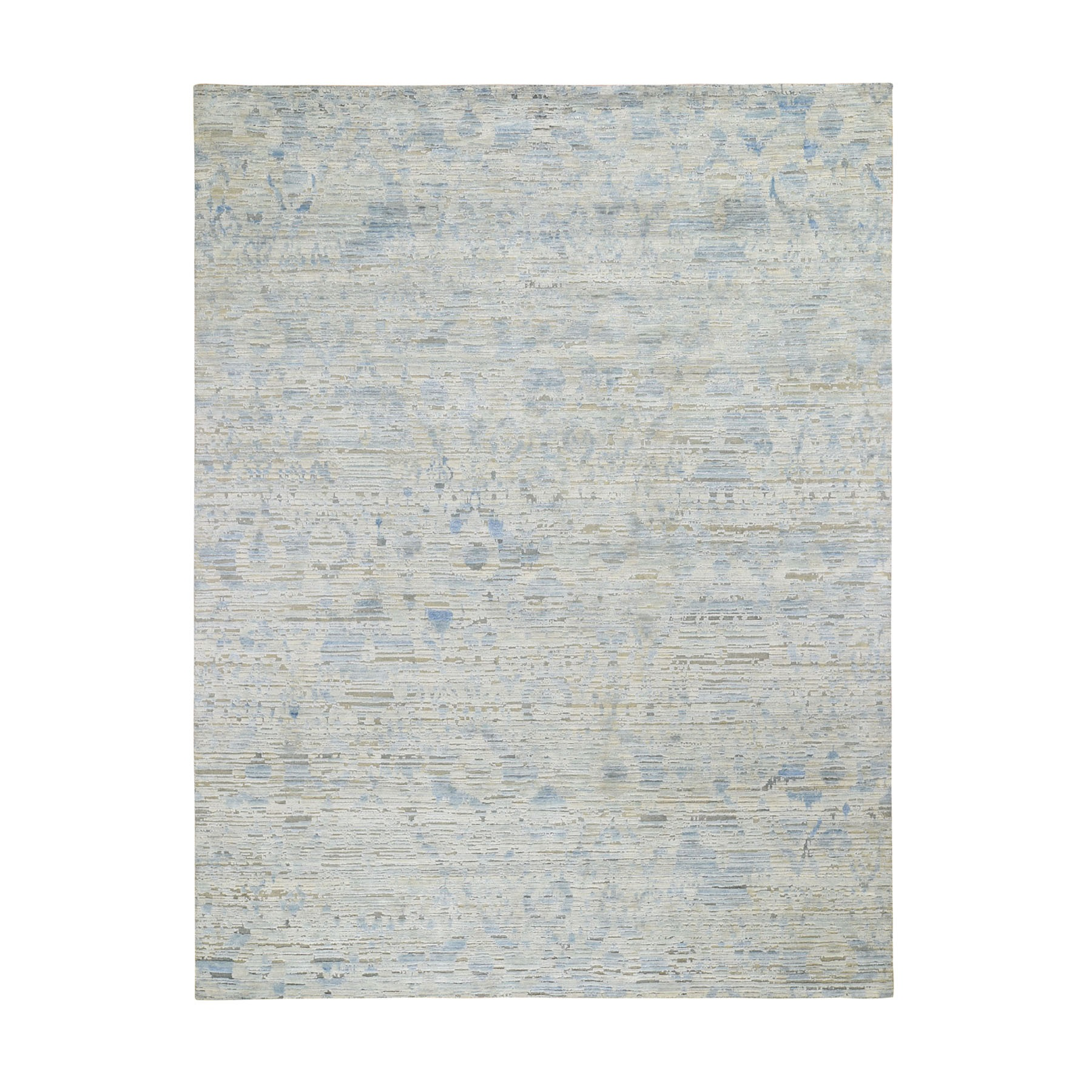 "9'X11'10""  The Pastel Collection, Silk With Textured Wool Hand Knotted Oriental Rug moad8ee7"