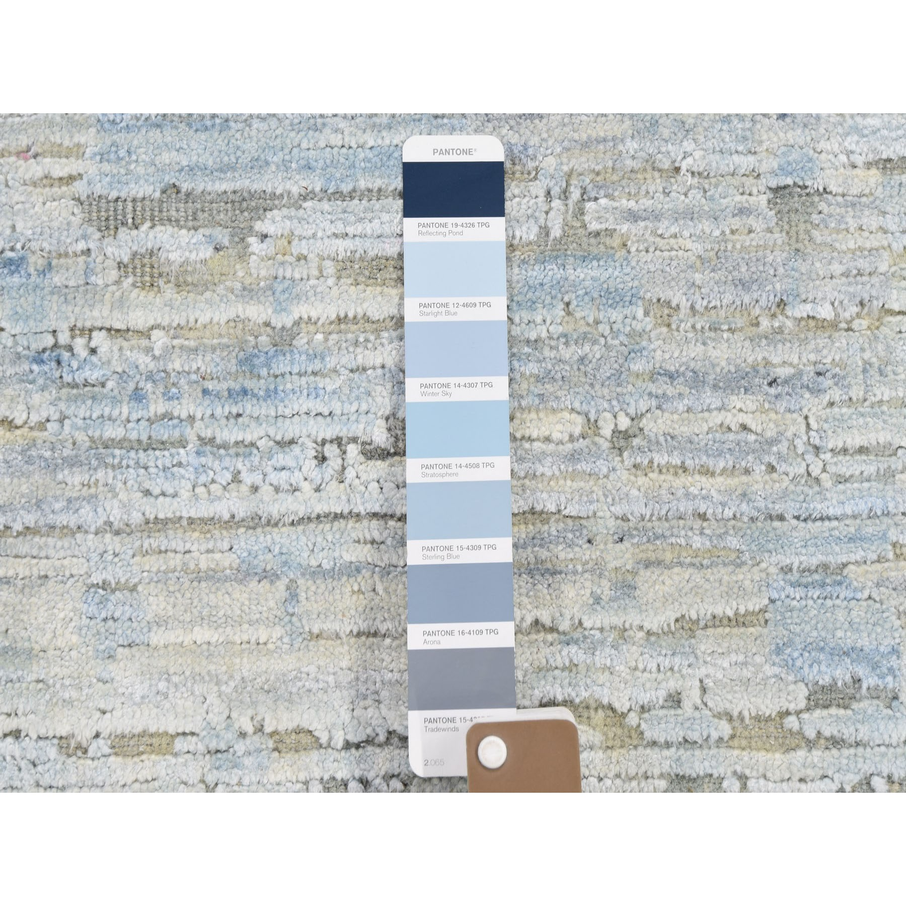9-x11-10   THE PASTEL COLLECTION, Silk With Textured Wool Hand Knotted Oriental Rug