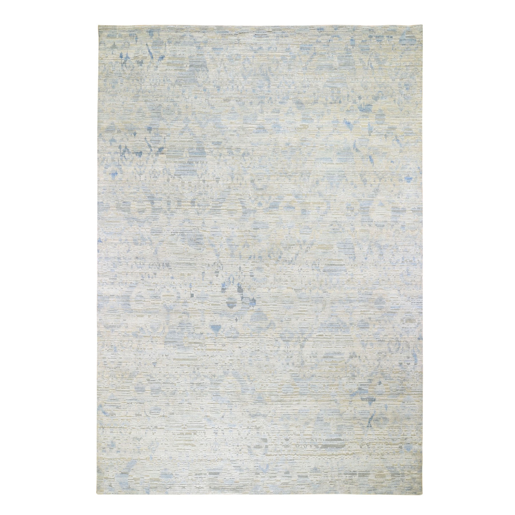 """9'9""""X14'1"""" The Pastel Collection, Silk With Textured Wool Hand Knotted Oriental Rug moad8e7b"""