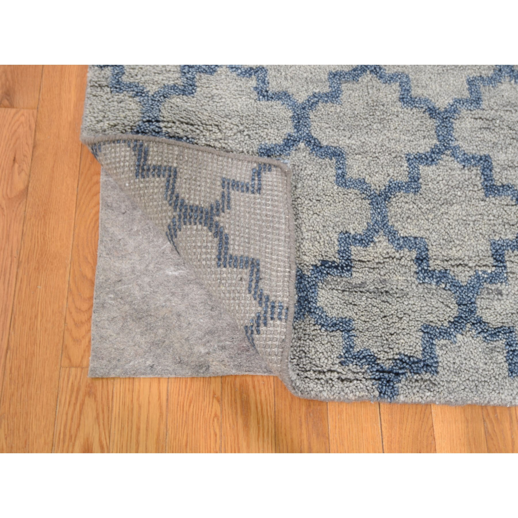 """8'1""""x9'9"""" On Clearance Hand Knotted Moroccan Berber Pure Wool Thick and Plush Oriental Rug"""