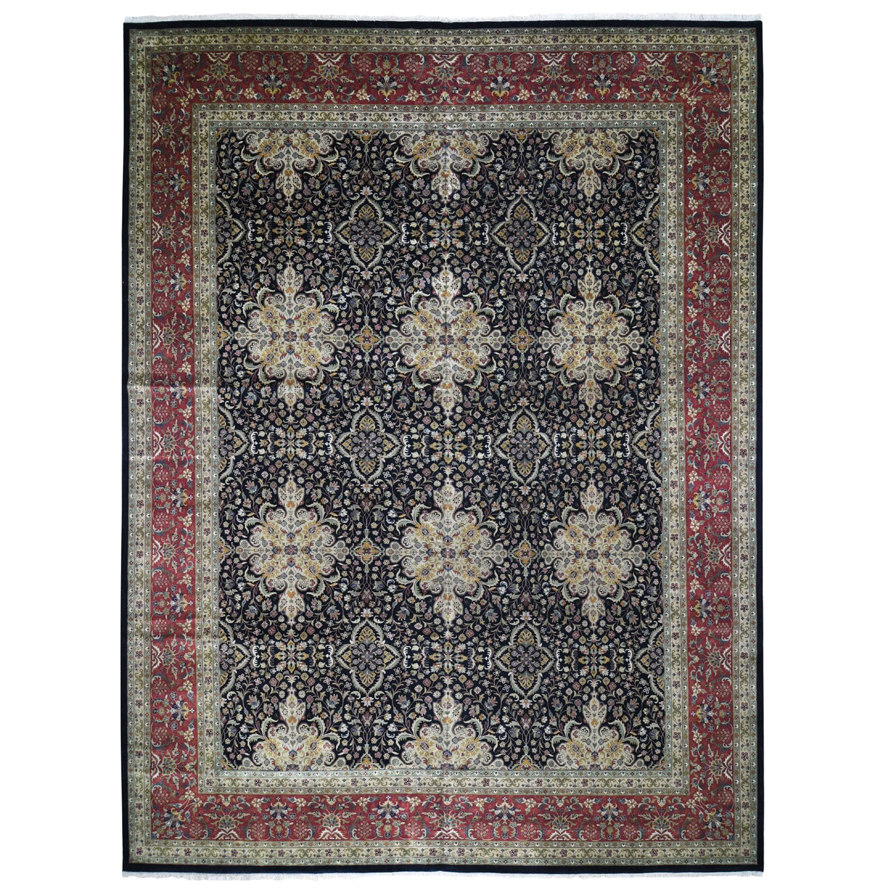 "12'9""X16'9"" Oversized Kashan Revival 300 Kpsi New Zealand Wool Hand Knotted Oriental Rug moad86dc"