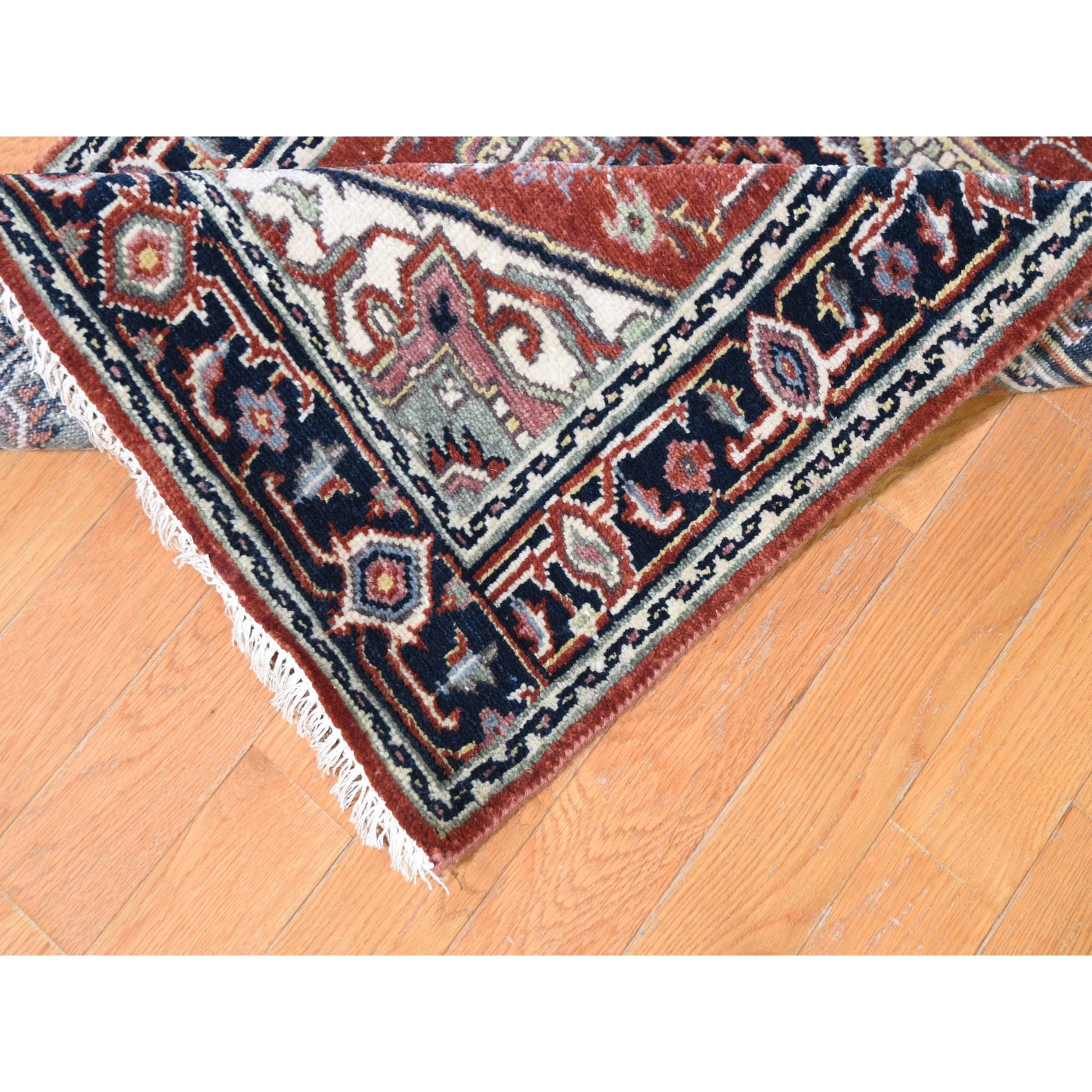 2-6 x26- Red Heriz Revival Pure Wool Hand Knotted XL Runner Oriental Rug