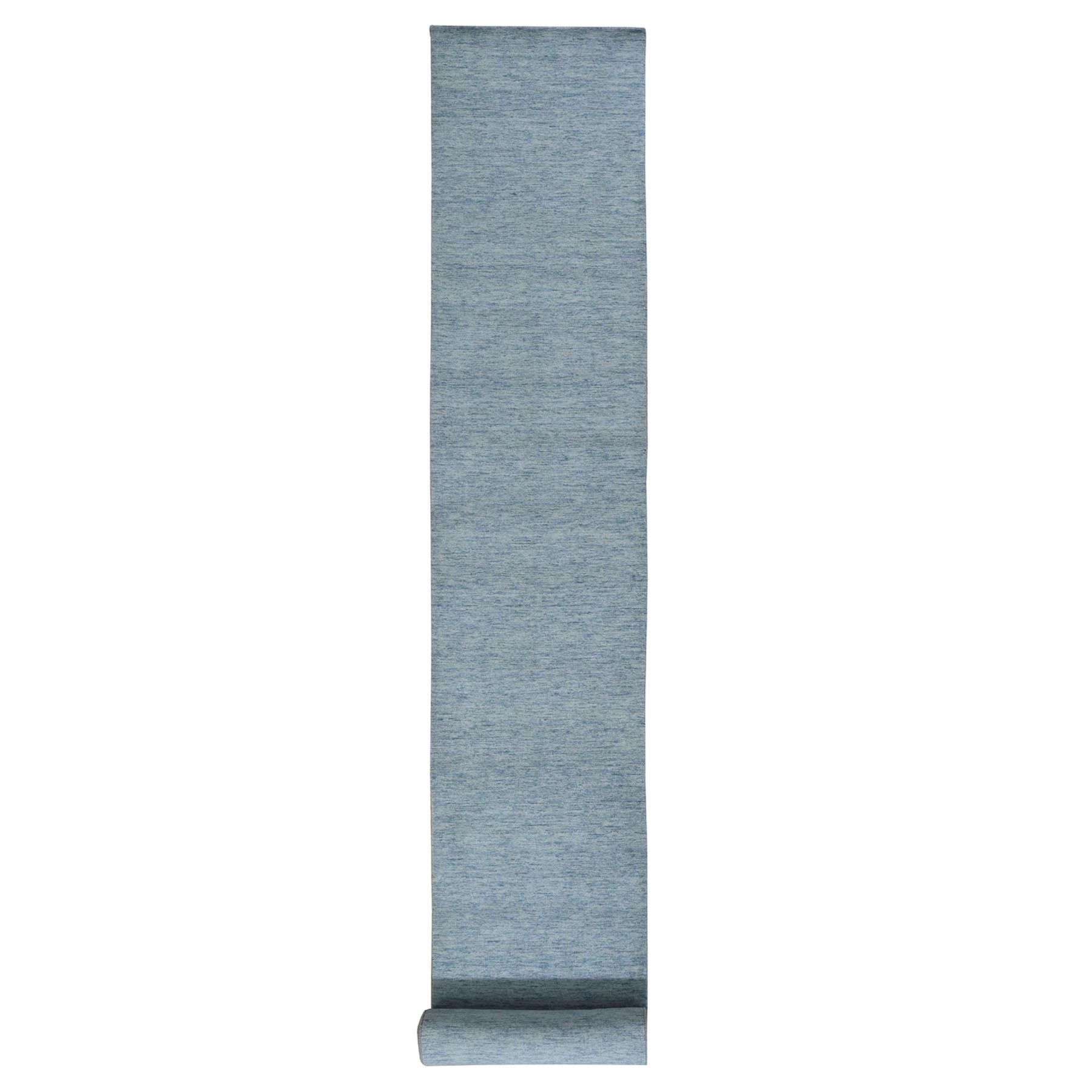 "2'6""x19'4"" XL Runner Hand Loomed Modern Gabbeh Gray Oriental Rug"
