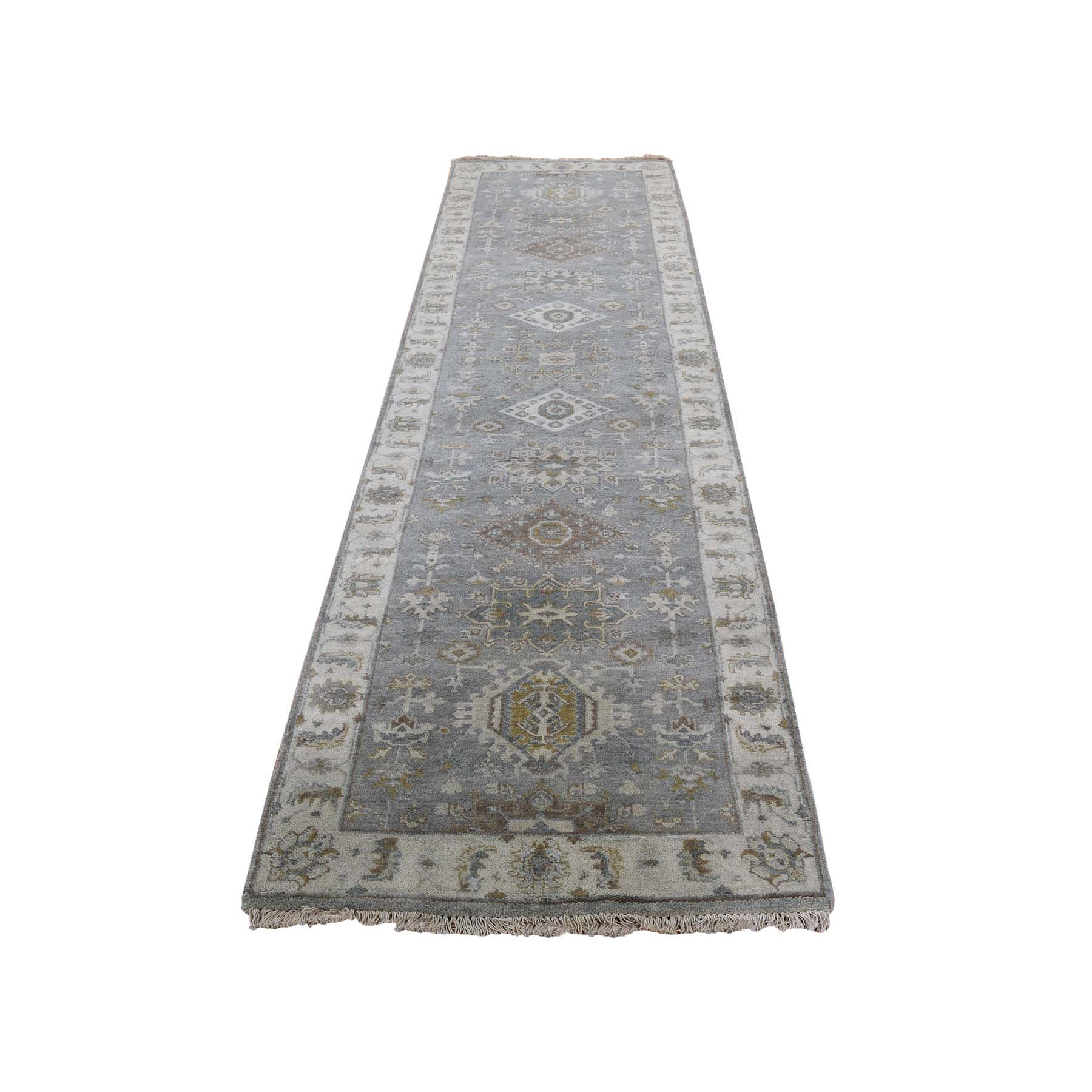 "2'7""X7'10"" Karajeh Design Pure Wool Hand Knotted Runner Oriental Rug moad87c8"