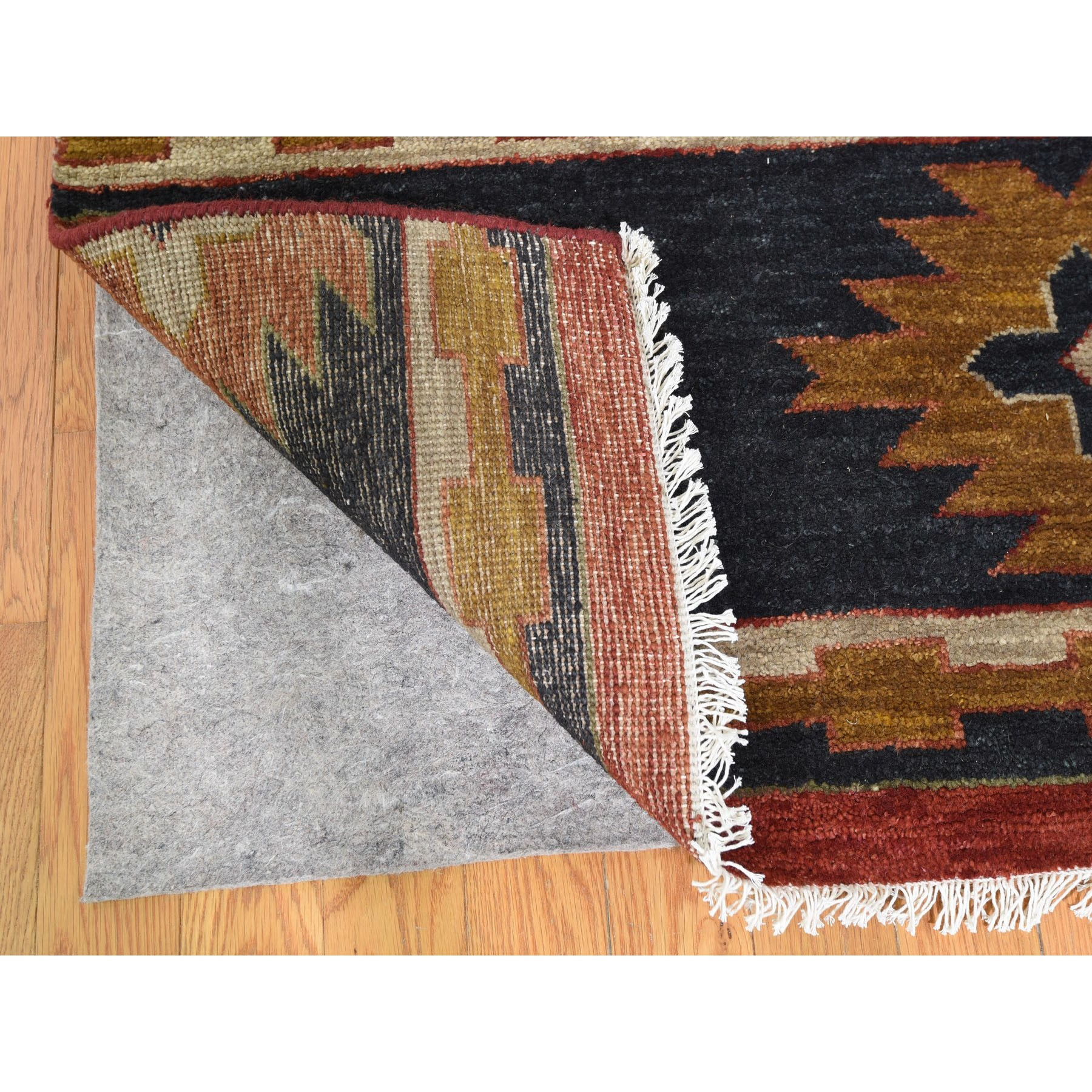 """9'x12'1"""" Red Southwest Design Pure Wool Hand Knotted Oriental Rug"""