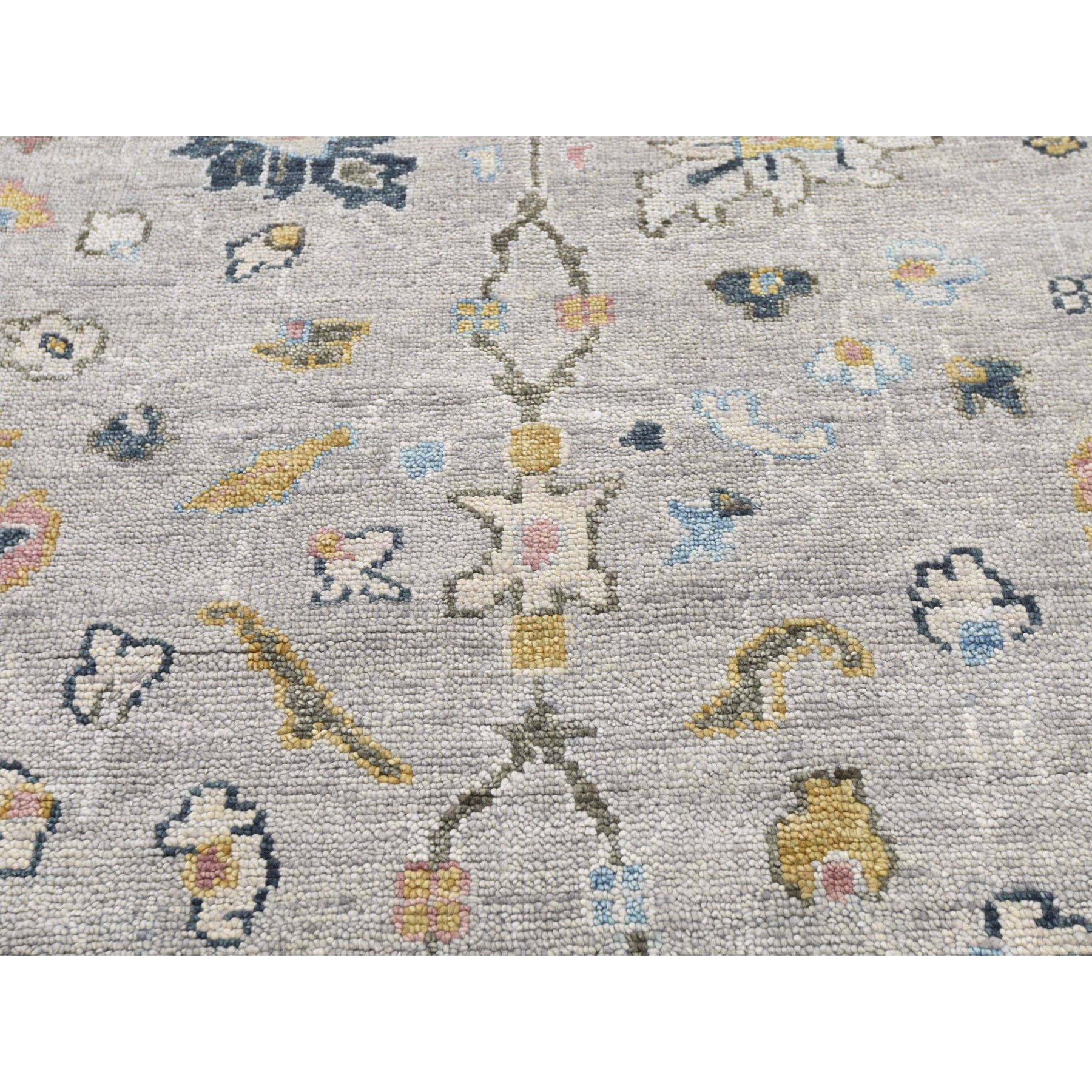 9'x12' Gray Supple Collection Oushak Design Hand Knotted Oriental Rug