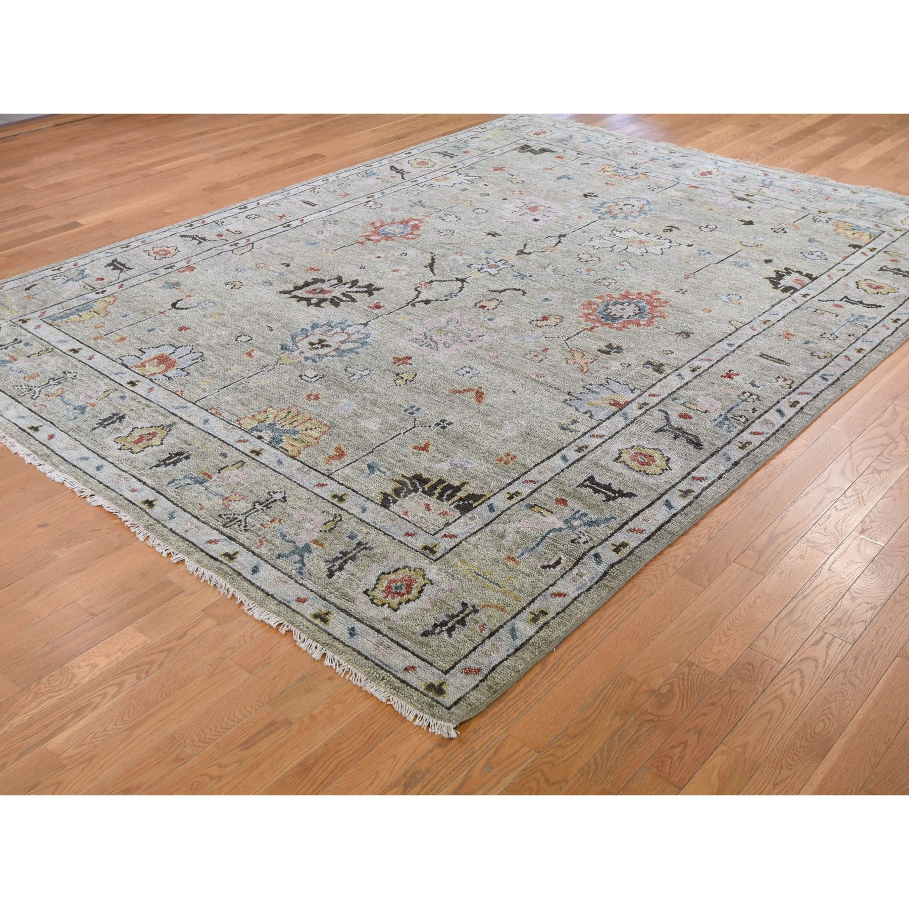"""9'x11'10""""  Gray Supple Collection Oushak Design Hand Knotted Oriental Rug"""