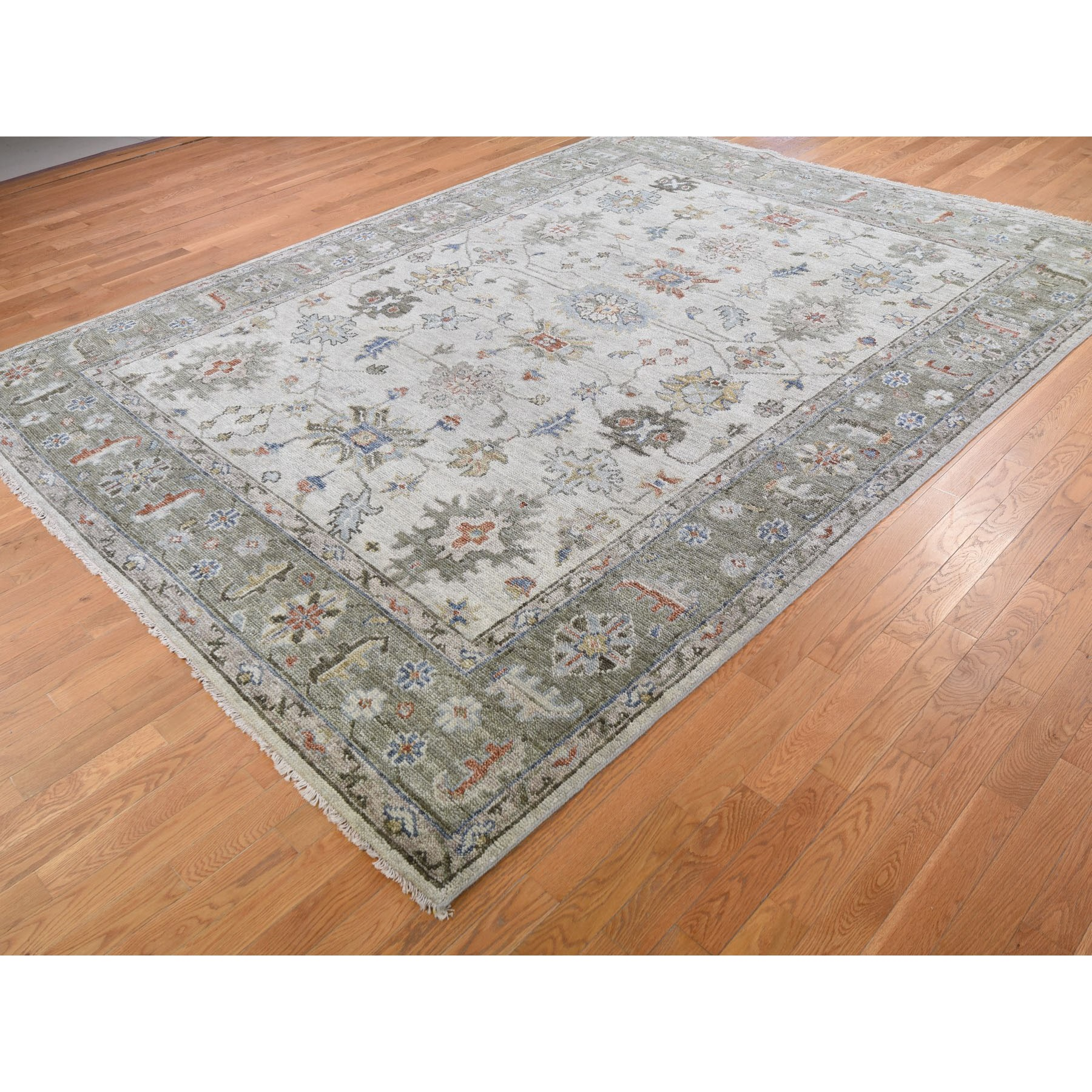 9'x12' Gray Supple Collection Oushak