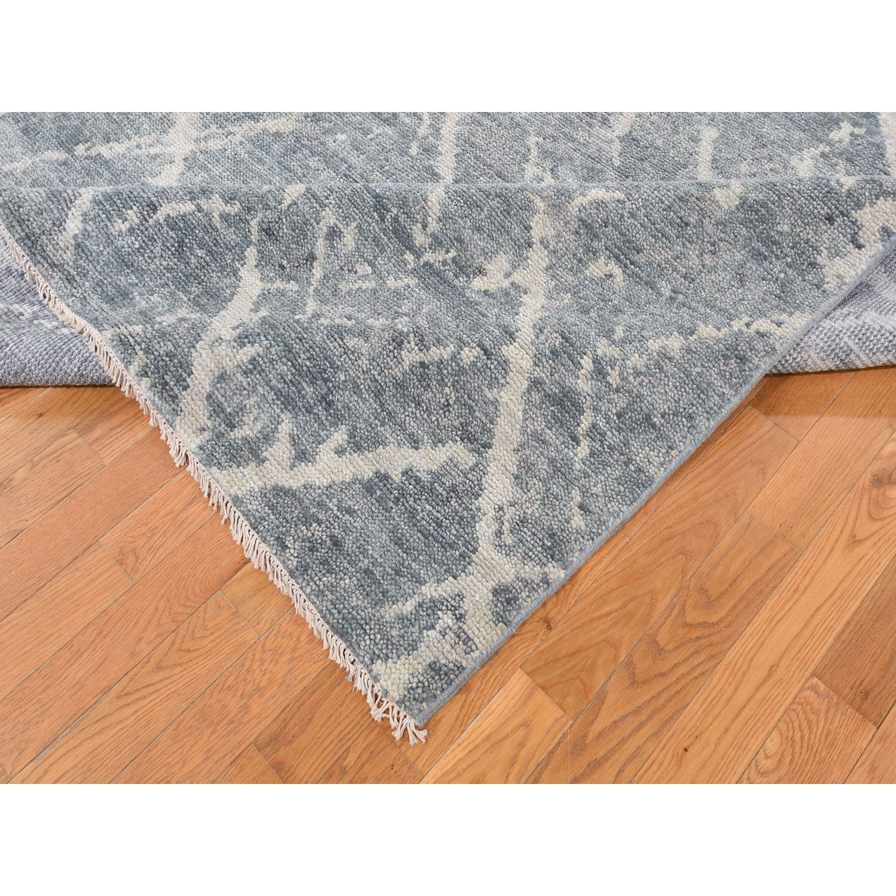 """9'1""""x12' Gray Supple Collection Modern Design Hand Knotted Oriental Rug"""