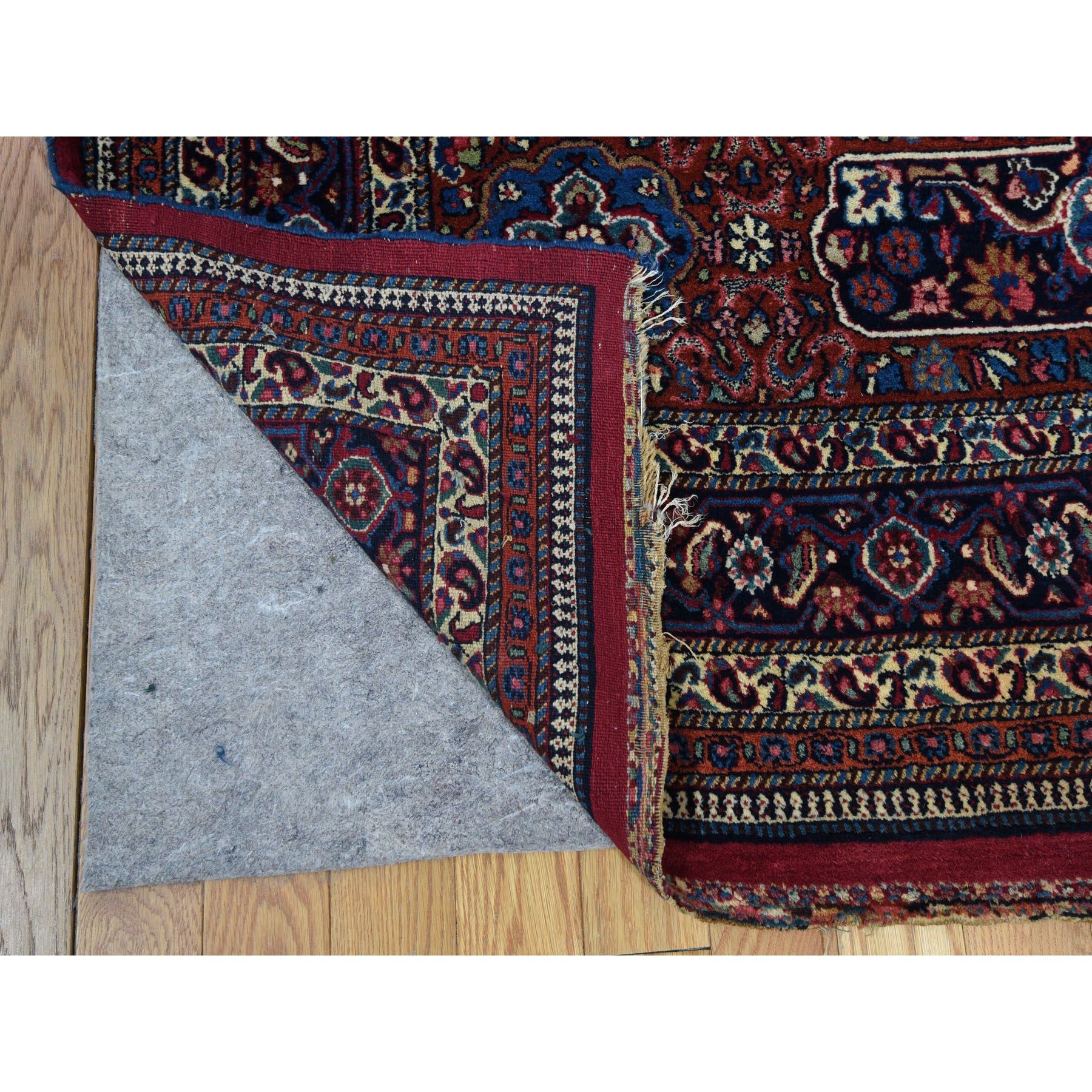 """13'x19'2"""" Oversized Antique Persian Mashad Signed Full Pile And Soft Hand Knotted Oriental Rug"""