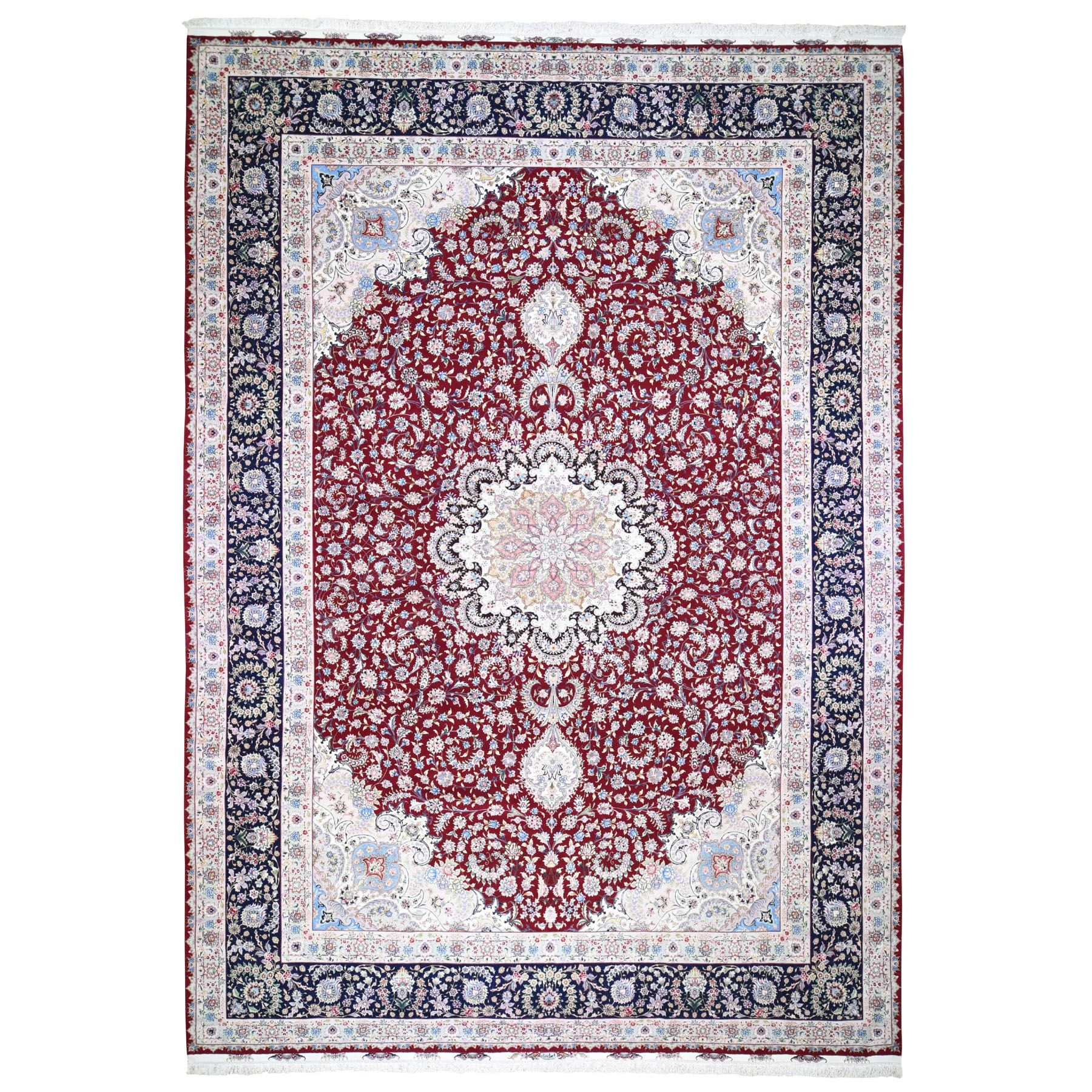 """11'6""""X16'8"""" Red Oversized New Persian Tabriz 400 Kpsi Double Signature Hand Knotted Oriental Rug moad89ba"""