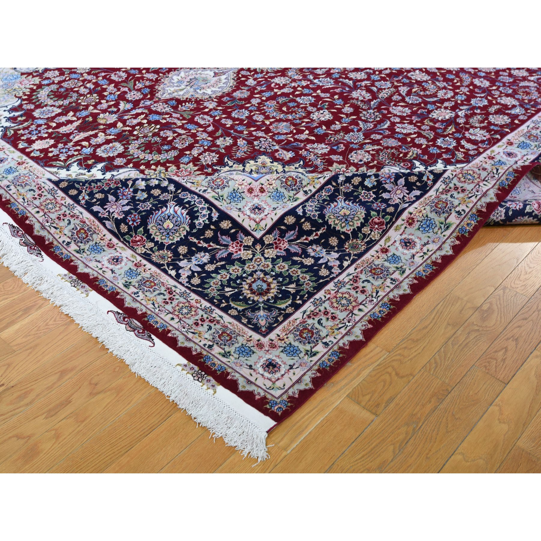 11-6 x16-8  Red Oversized New Persian Tabriz 400 KPSI Double Signature Hand Knotted Oriental Rug