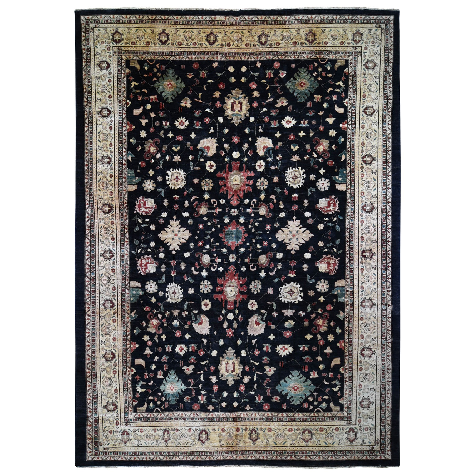 "12'X16'5"" On Clearance Black Oversized Ziegler Mahal Persian Hand Knotted Oriental Rug moad89bb"