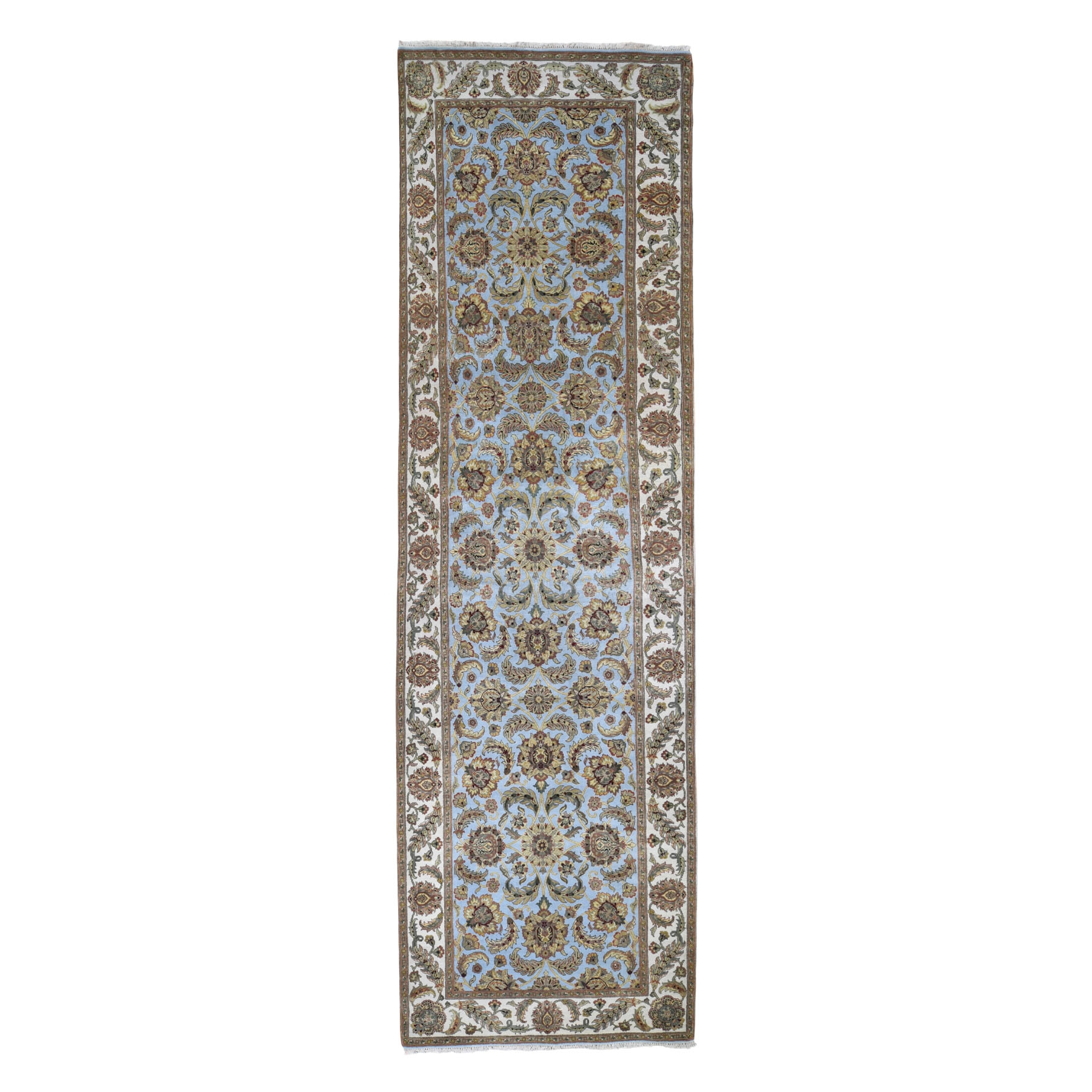 """5'X16'10"""" Rajasthan Wide Gallery Pure Wool Hand Knotted Oriental Rug moad89c7"""